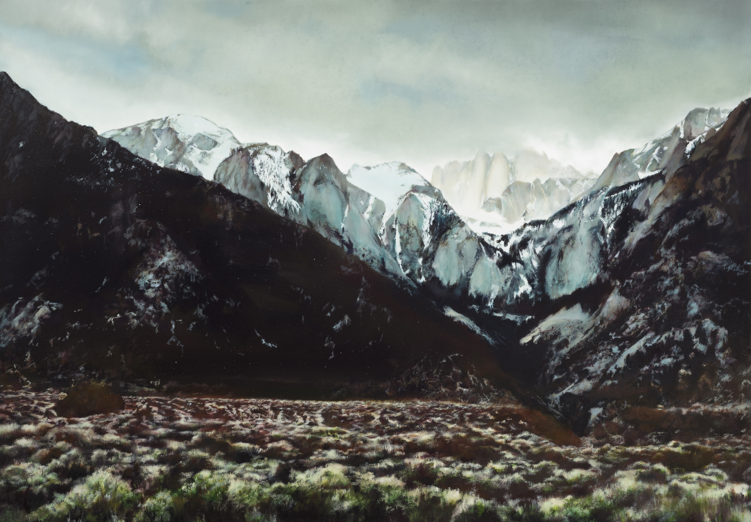 "mt. whitney   40"" x 62""  oil on canvas  2013"