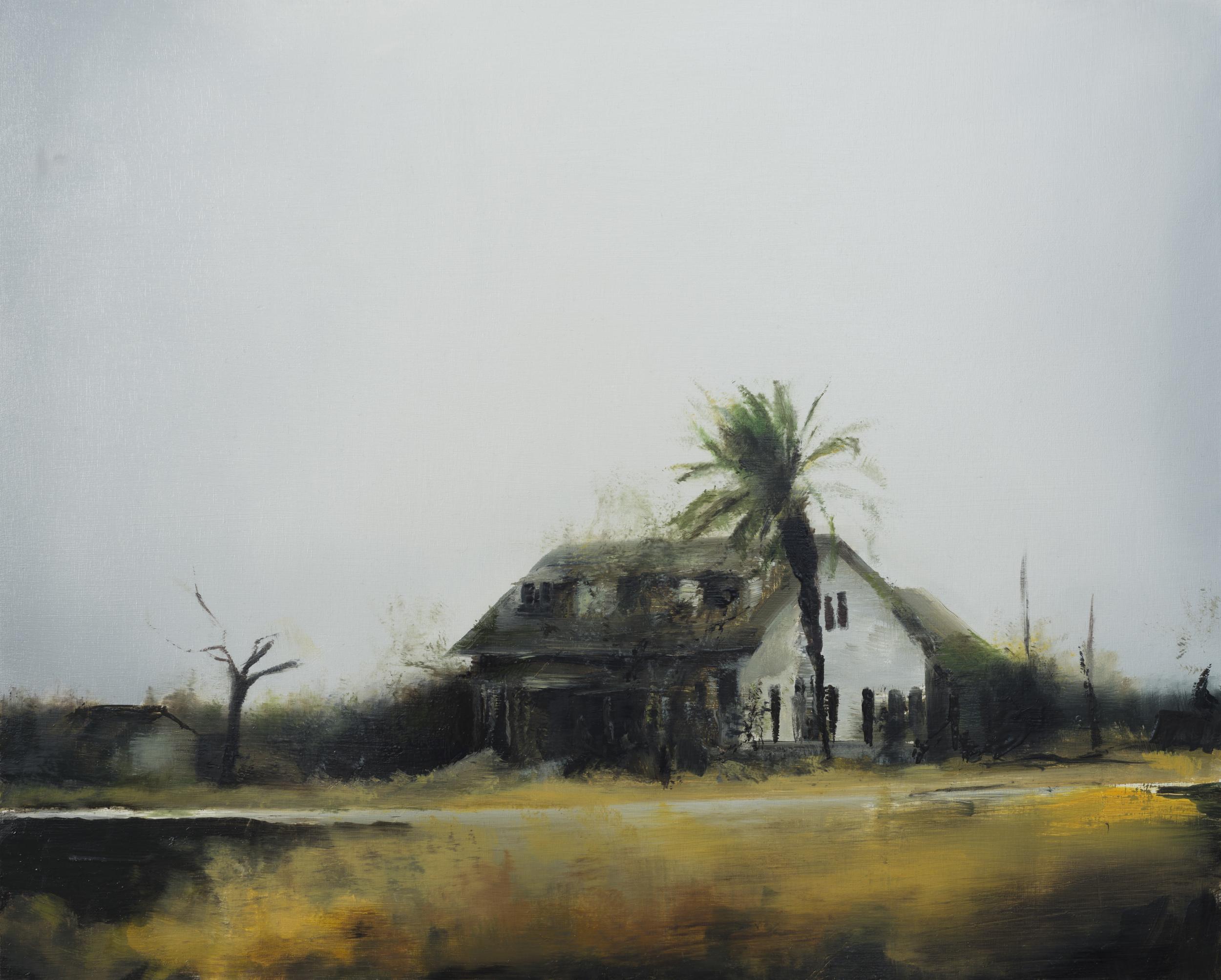 """texas house  16"""" x 20""""  oil on panel  2013"""