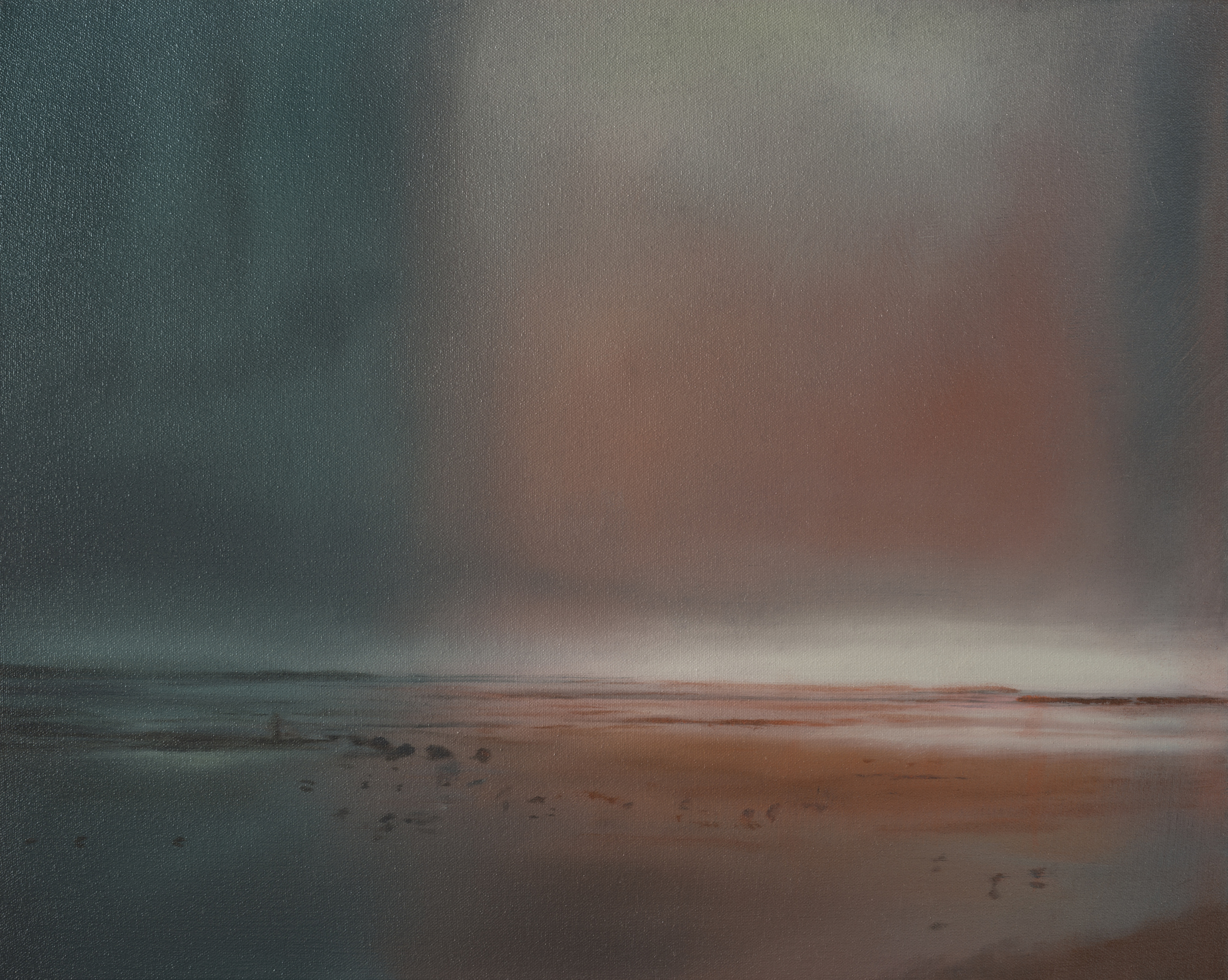 "arcata marsh study •  16"" x 20""  oil on canvas  2012"