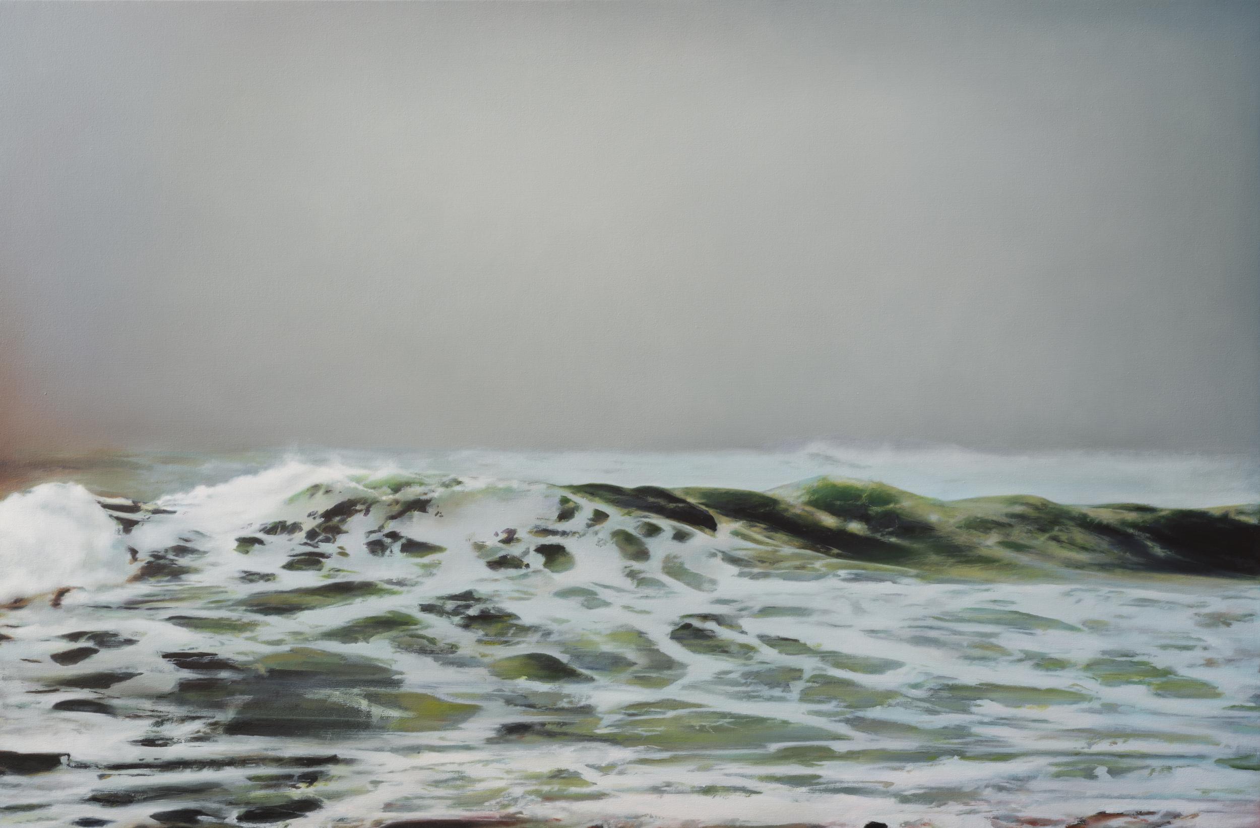 "north beach •  42"" x 64""  oil on canvas  2012"