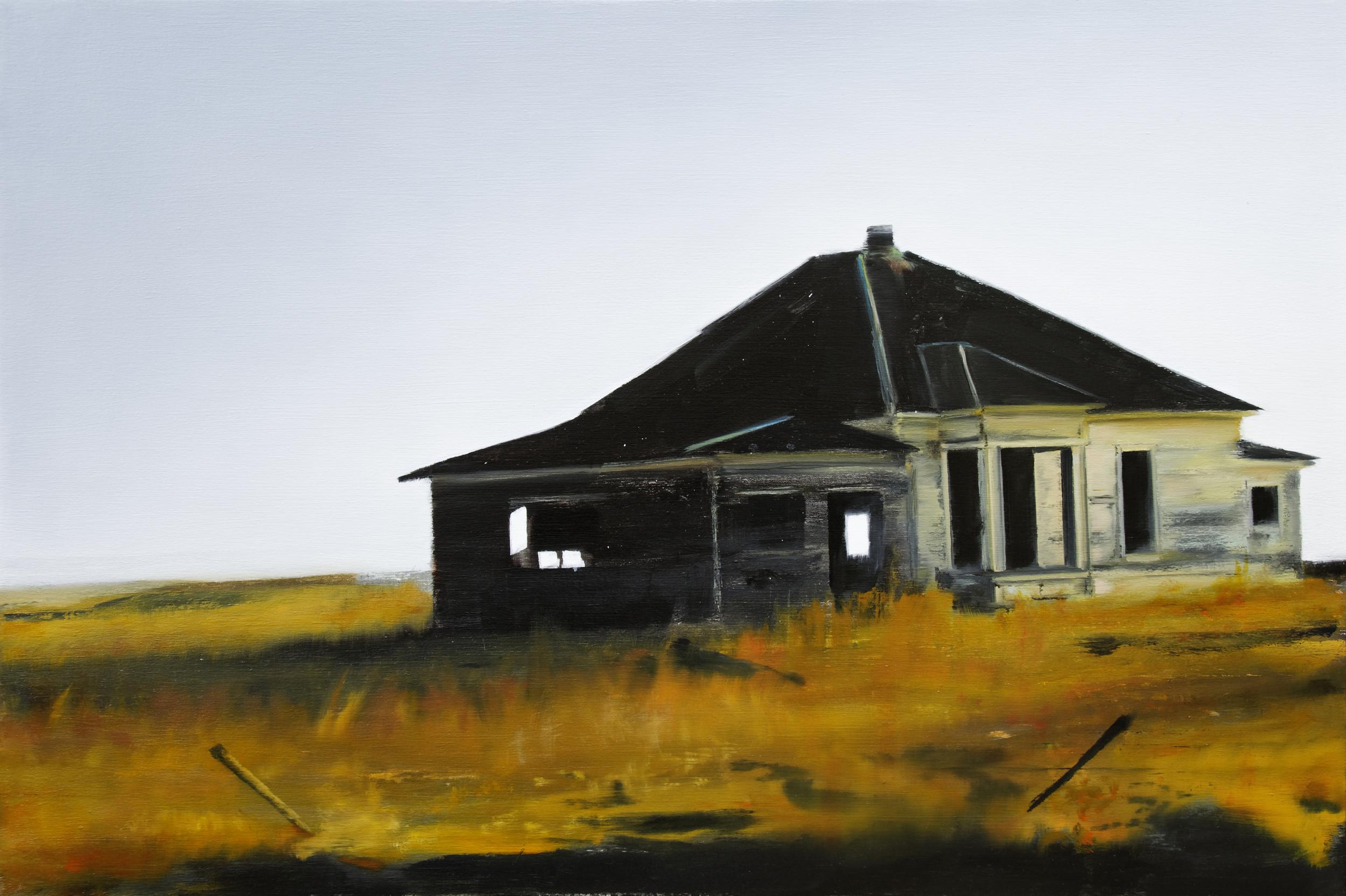 """house   24"""" x 36""""  oil on canvas  2011"""