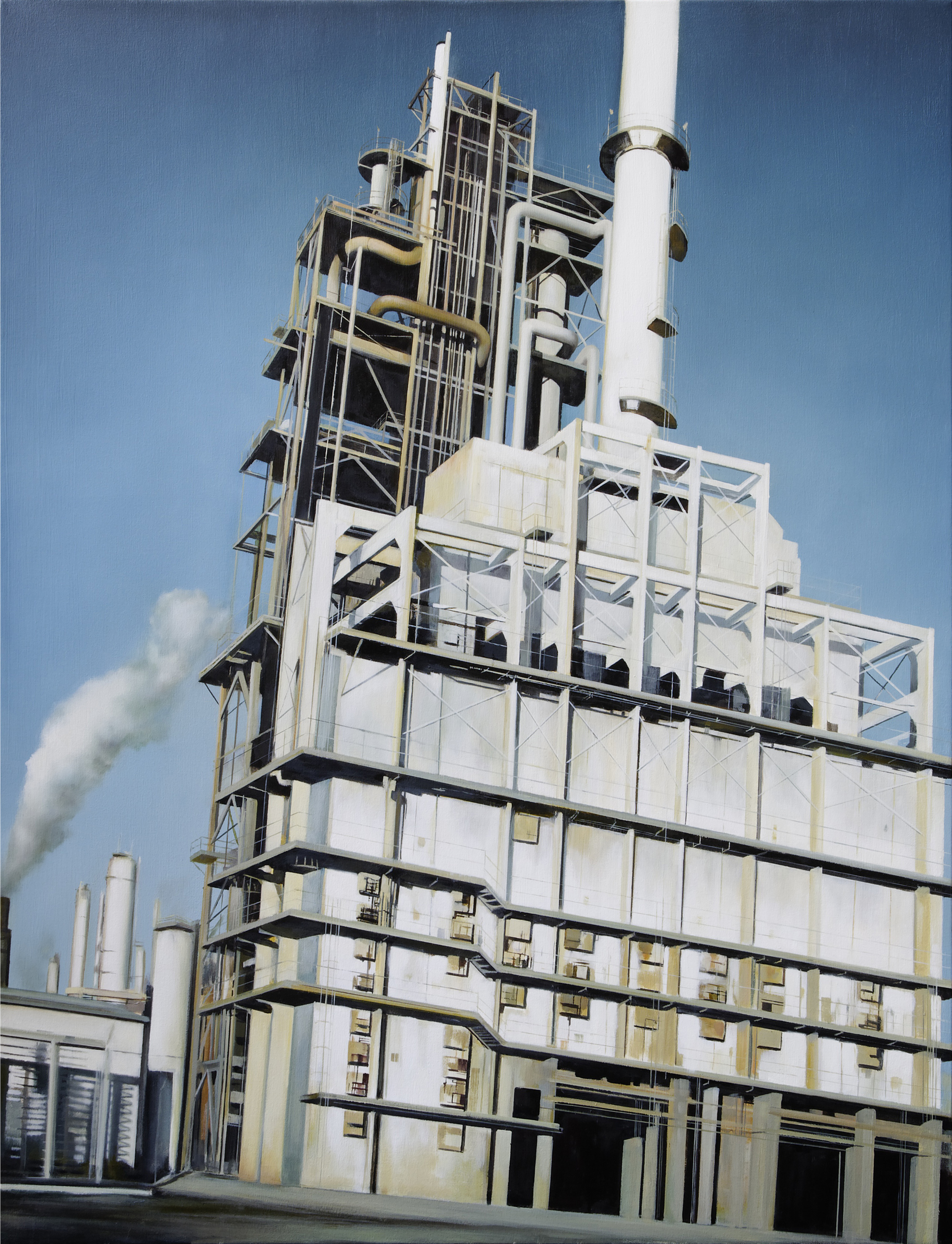 "refinery 3    •   52"" x 40""  oil on canvas  2011"