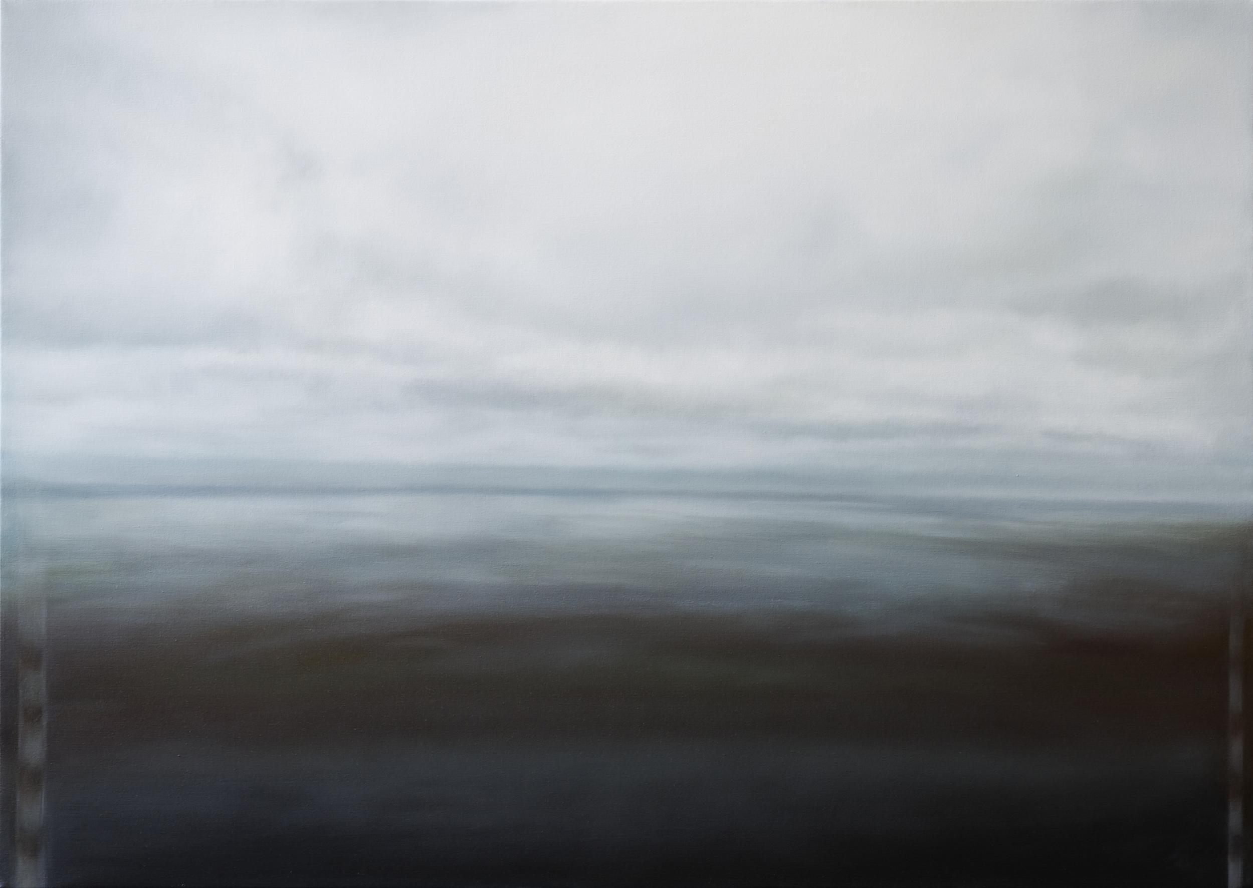 """lighthouse •  34"""" x 48""""  oil on canvas  2011"""