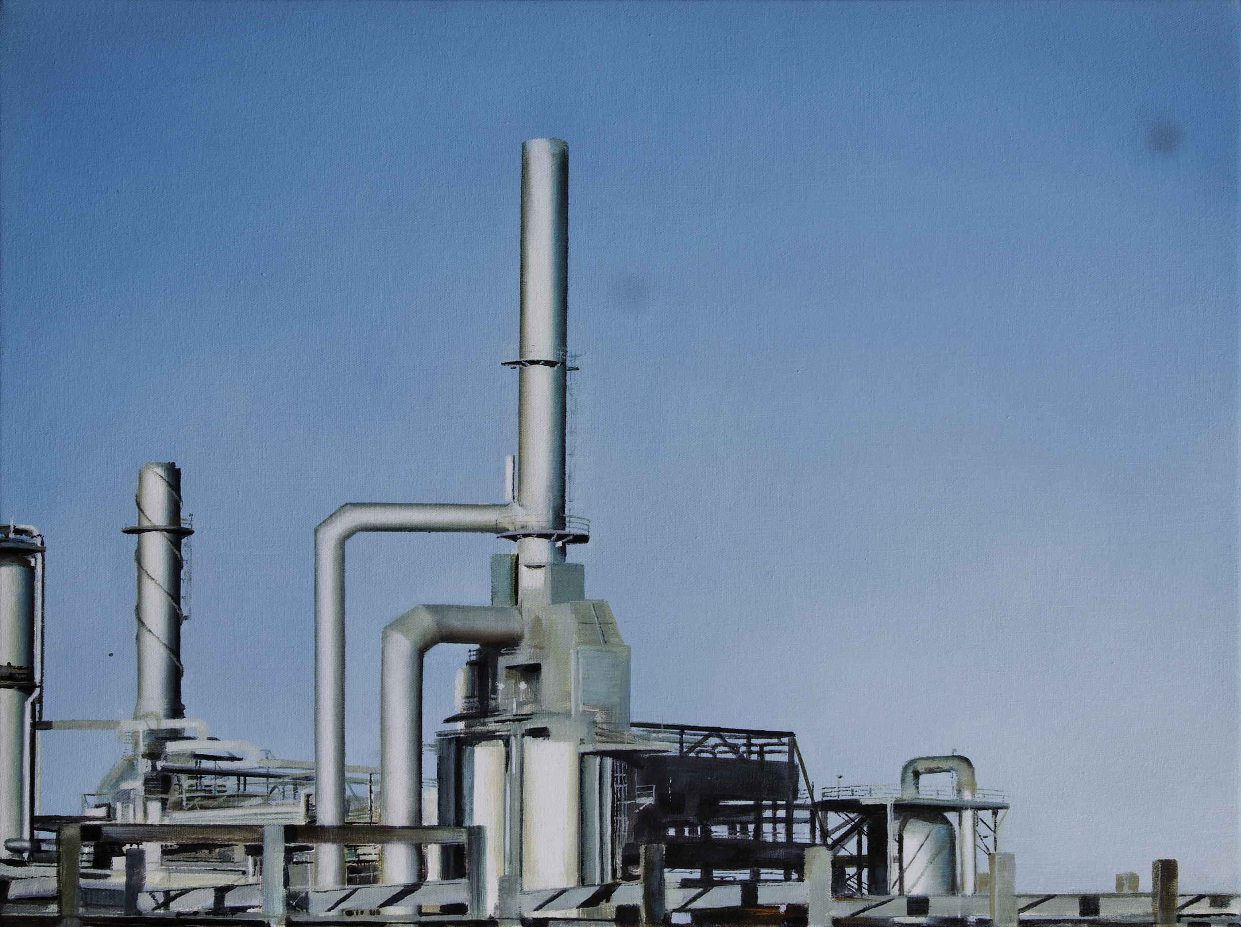 "refinery 2   •  18"" x 22""  oil on canvas  2011"