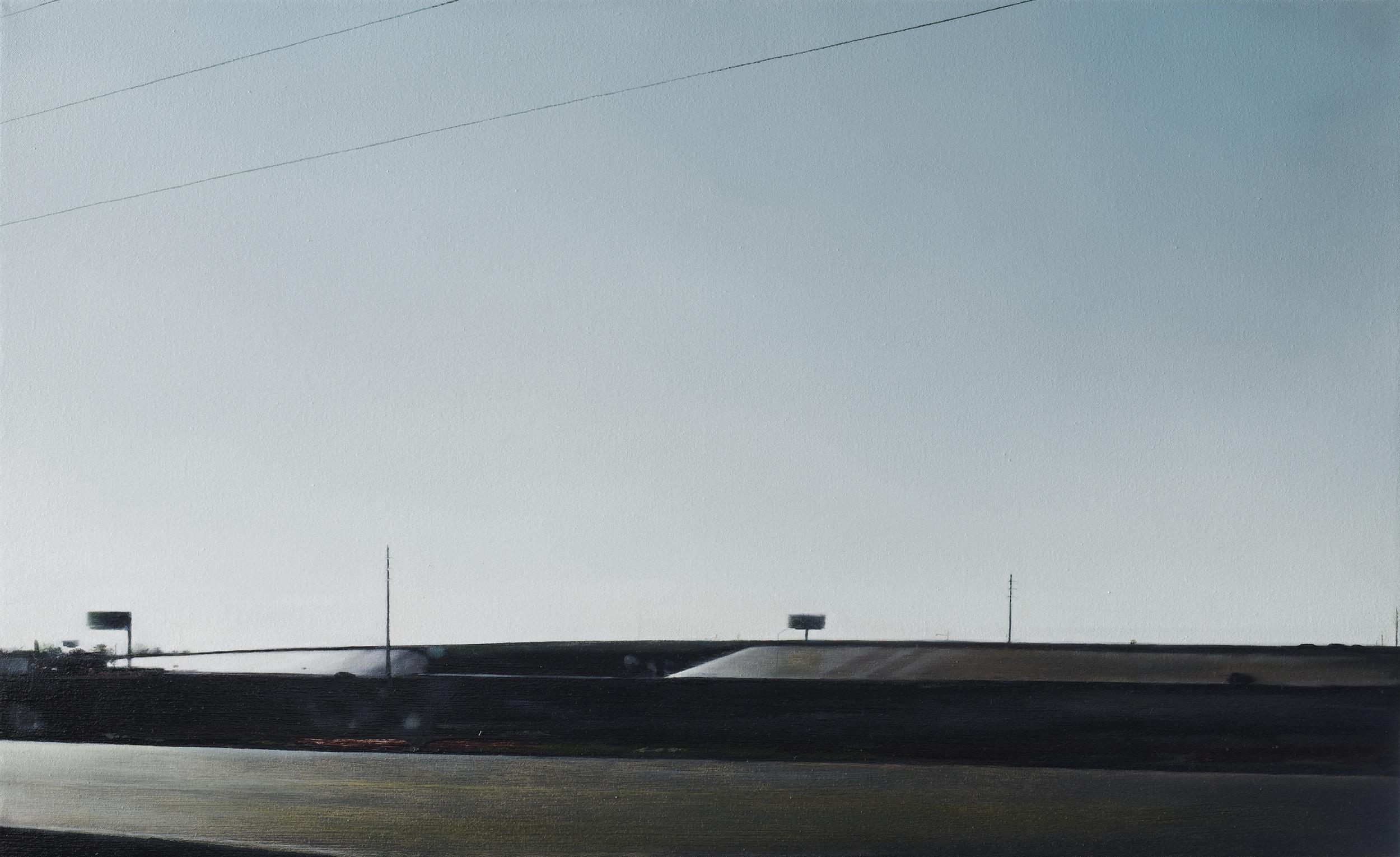 "overpass •  22"" x 36""  oil on canvas  2010"
