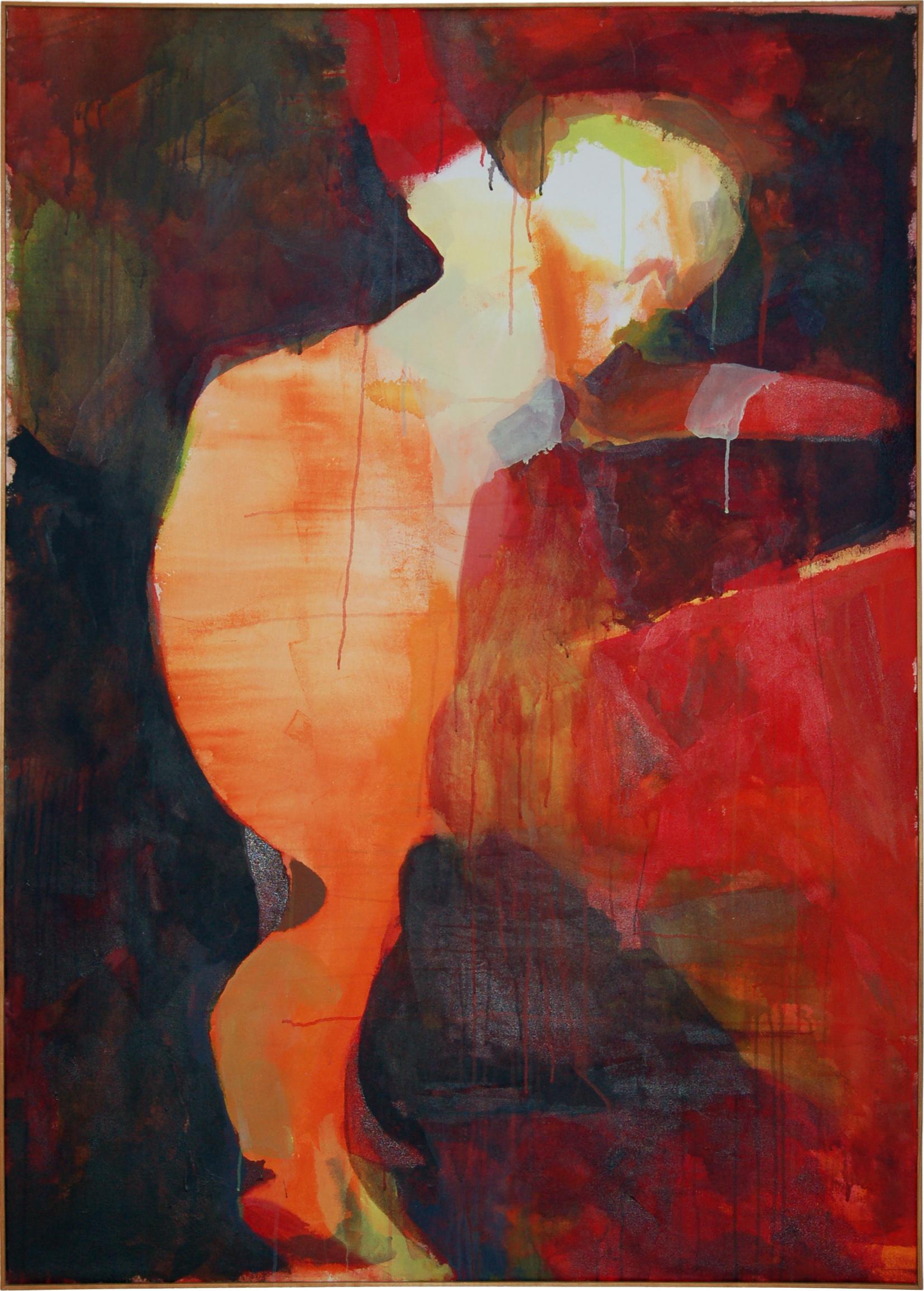 """acrobat   X"""" x X""""  acrylic on canvas  1996"""