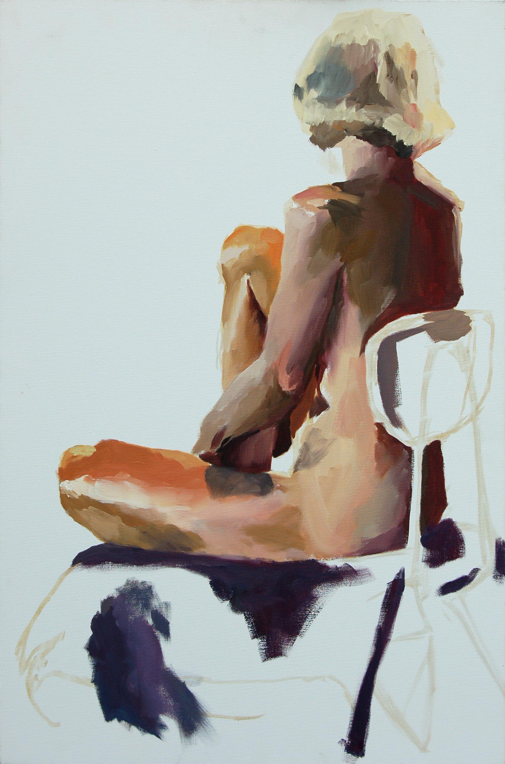 "figure   X"" x X""  oil on canvas  1996"
