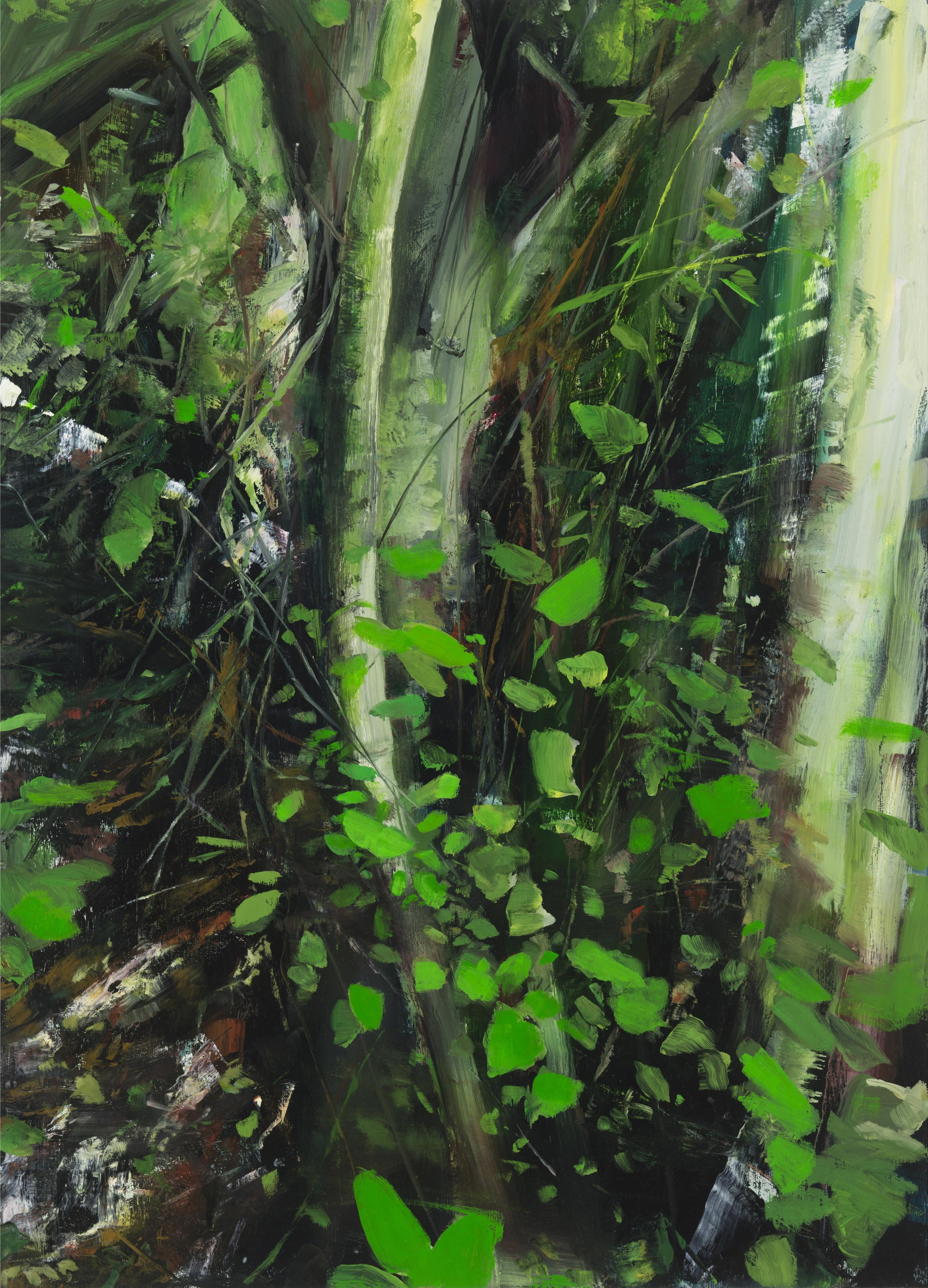 """palomarin (green) •  29"""" x 21""""  oil on canvas  2014"""