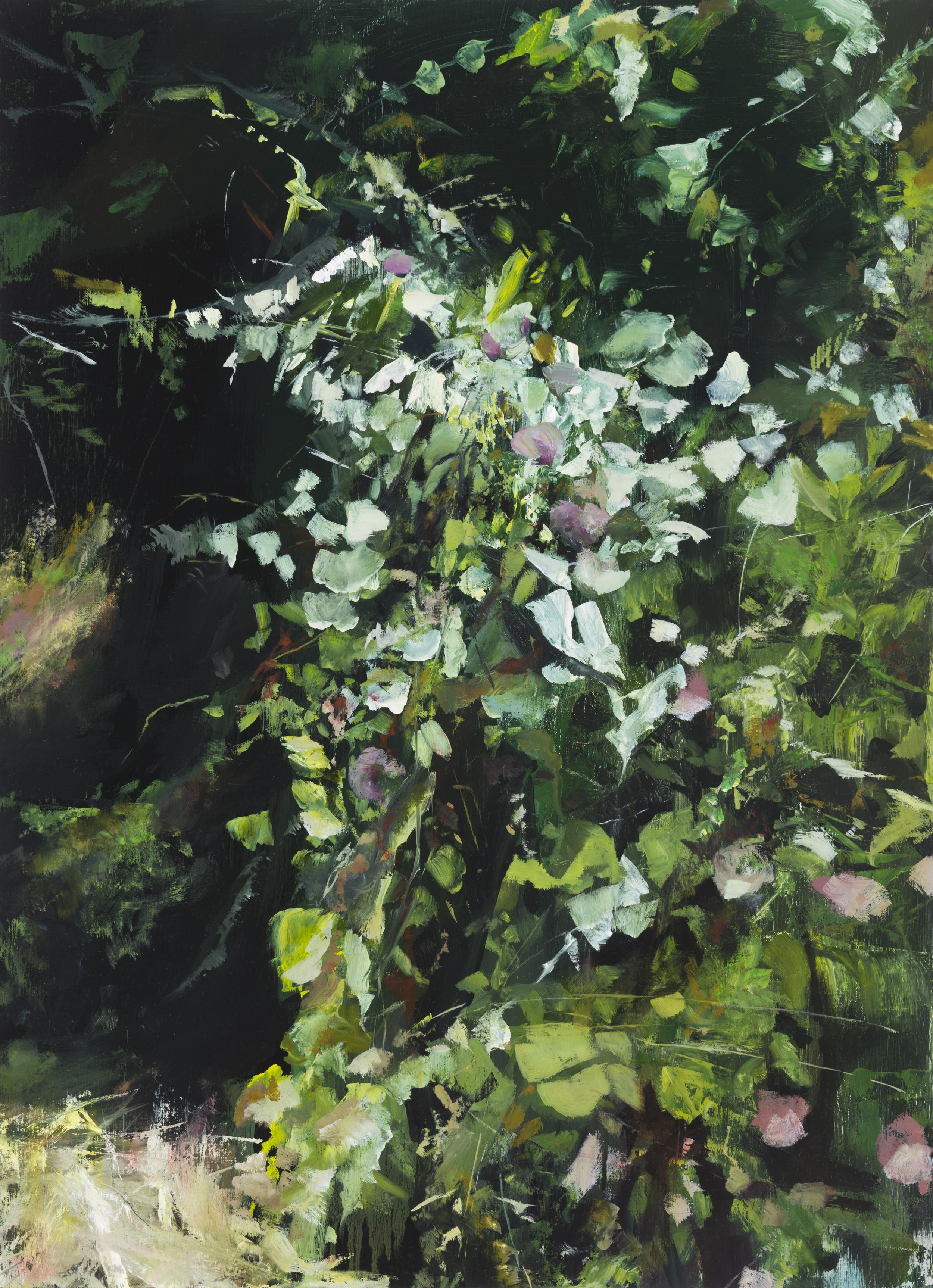 """palomarin (purple) •  30"""" x 22""""  oil on canvas  2014"""