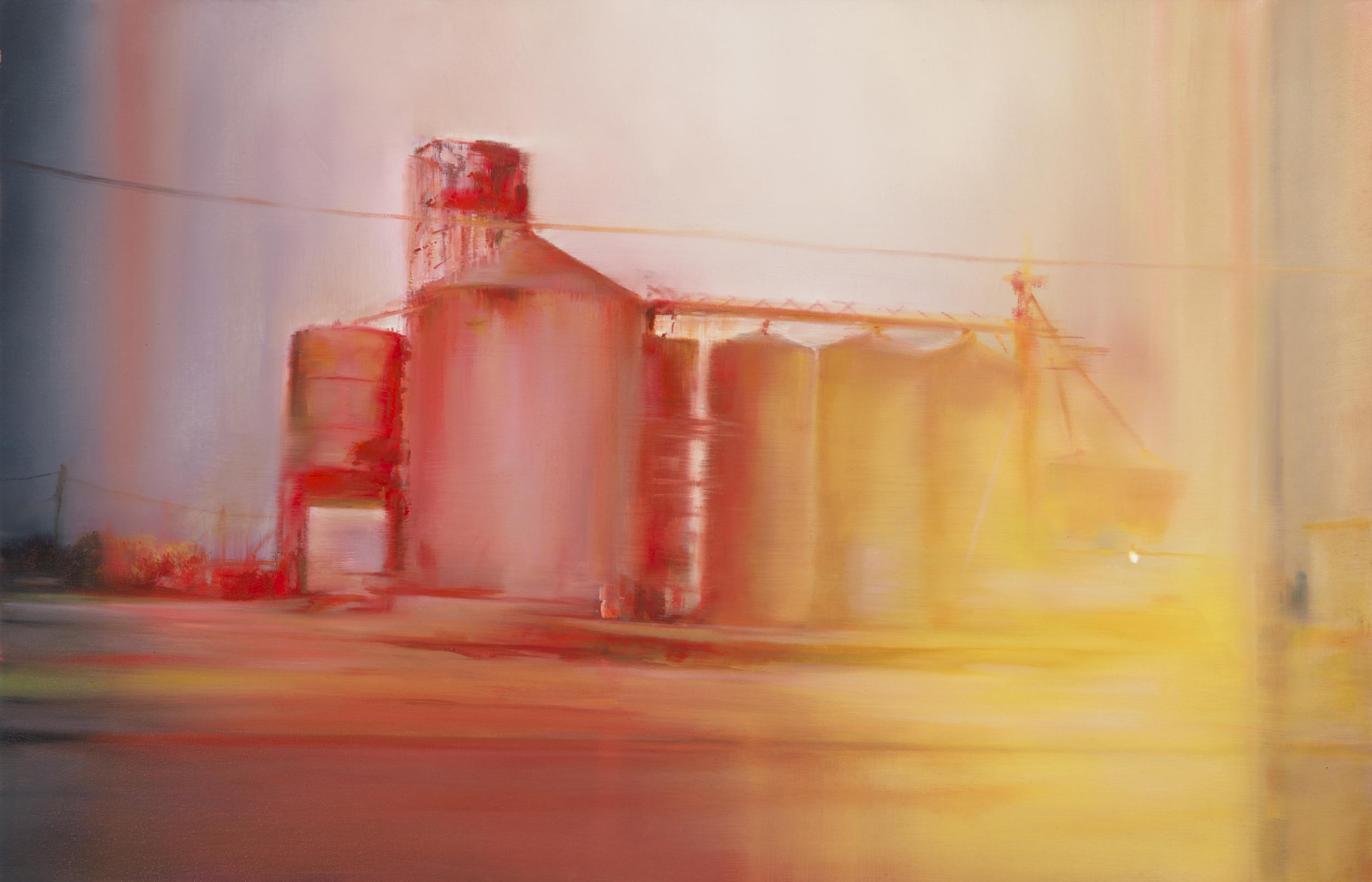"""near crp  •  22"""" x 34""""  oil on canvas  2014"""