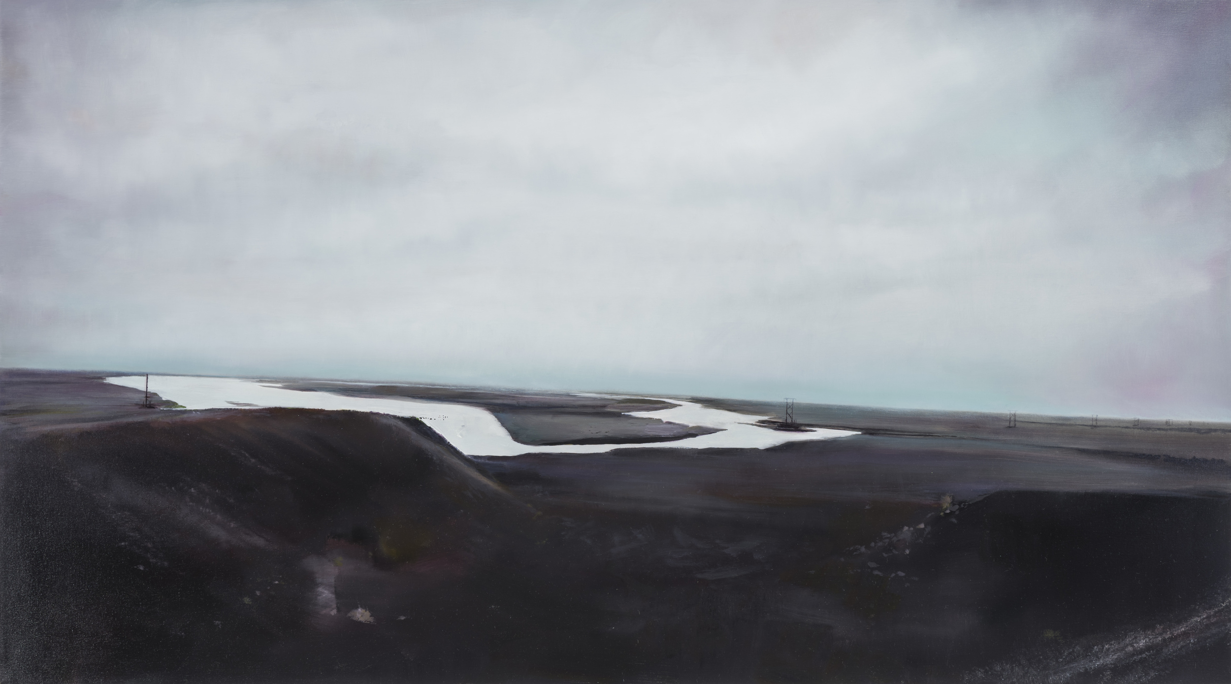 "black sand  •  28"" x 50""  oil on canvas  2015"