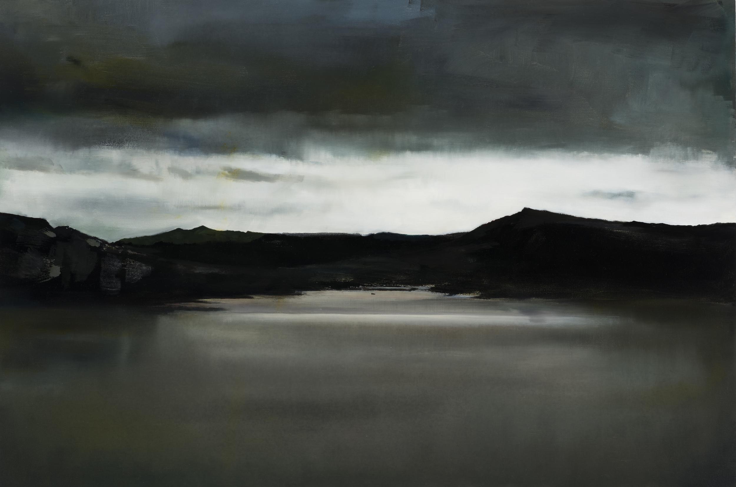 """lagoon   24"""" x 36""""  oil on canvas  2016"""