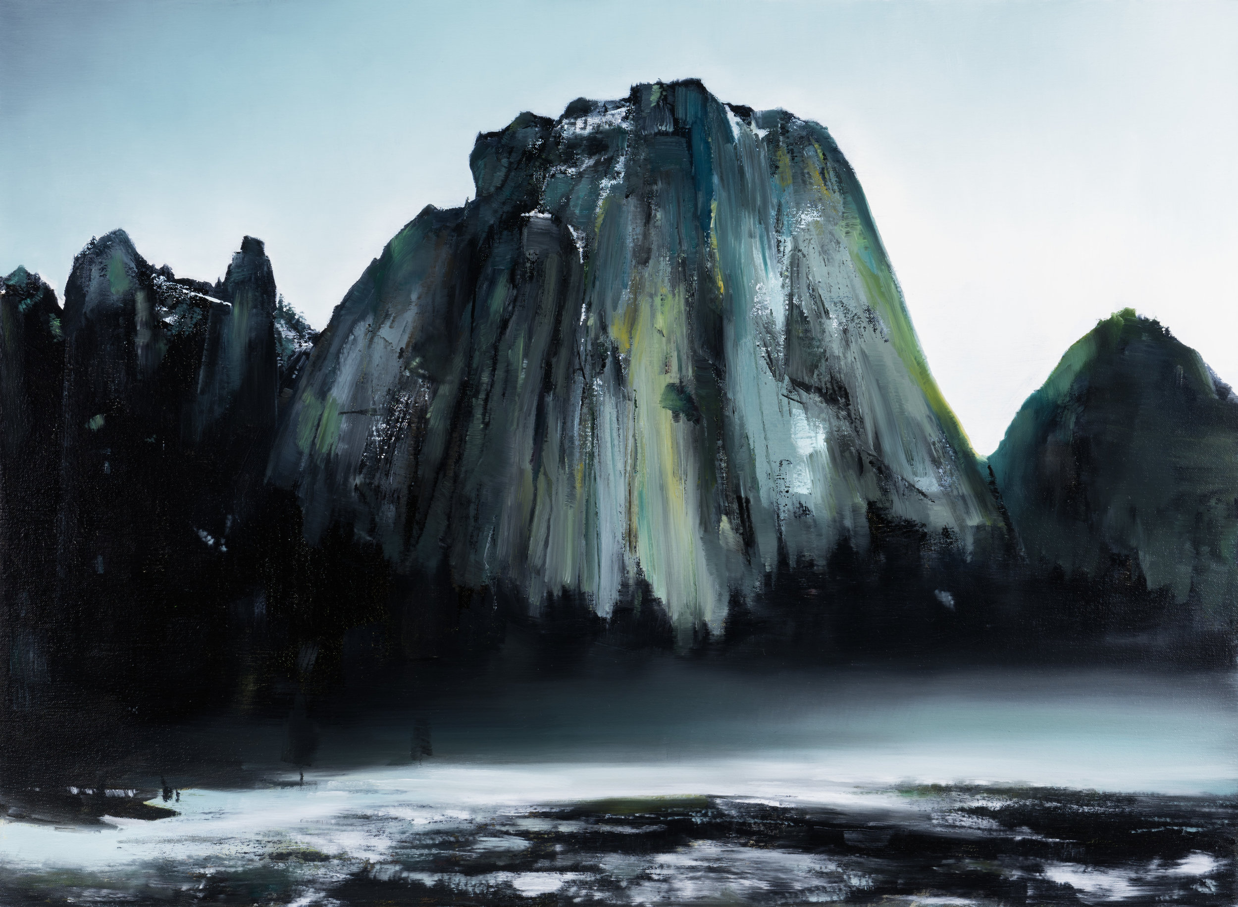 "cathedral rocks  •  22"" x 30""  oil on canvas  2017"