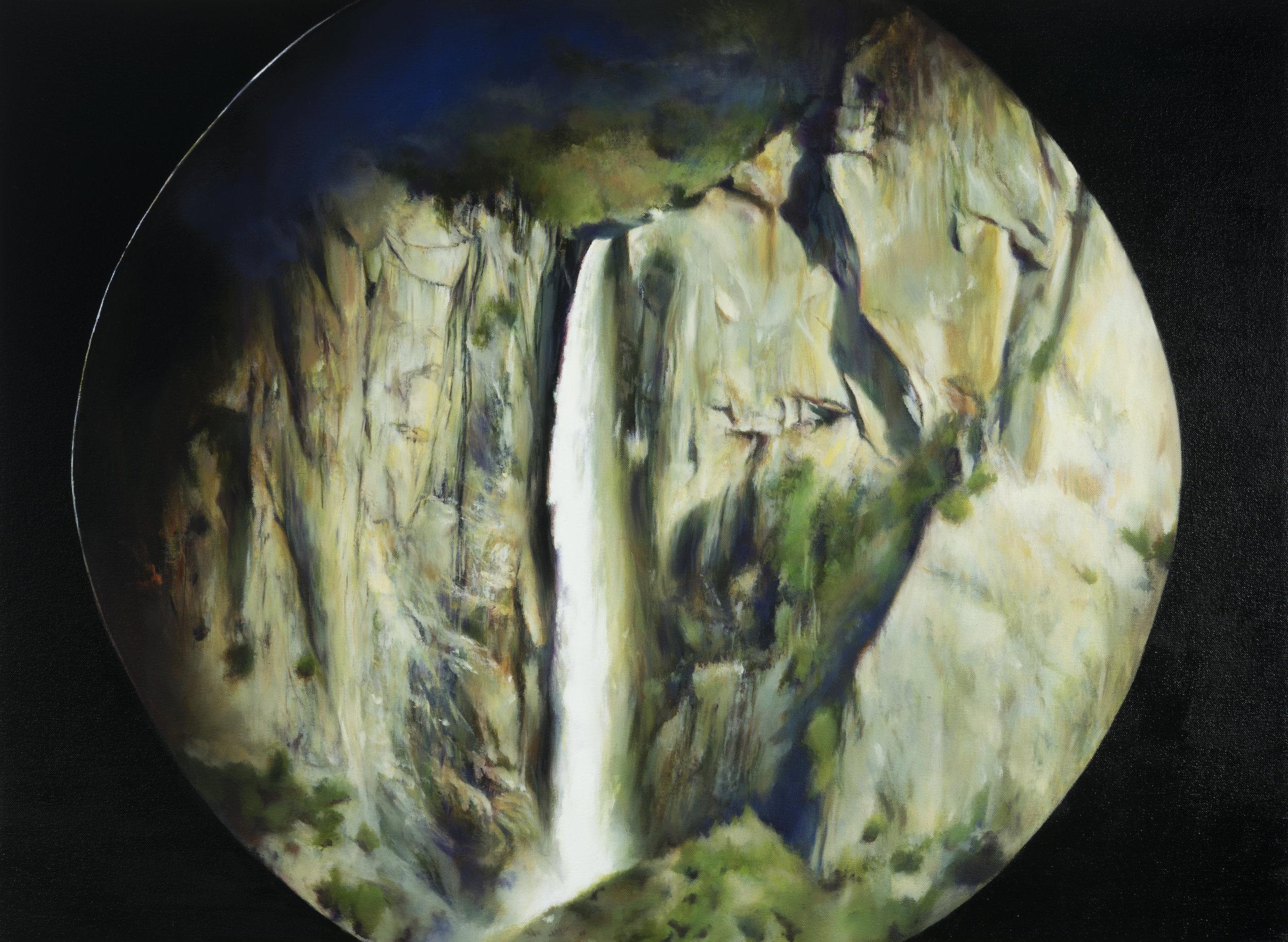 """bridalveil falls  •  22"""" x 30""""  oil on canvas  2017"""
