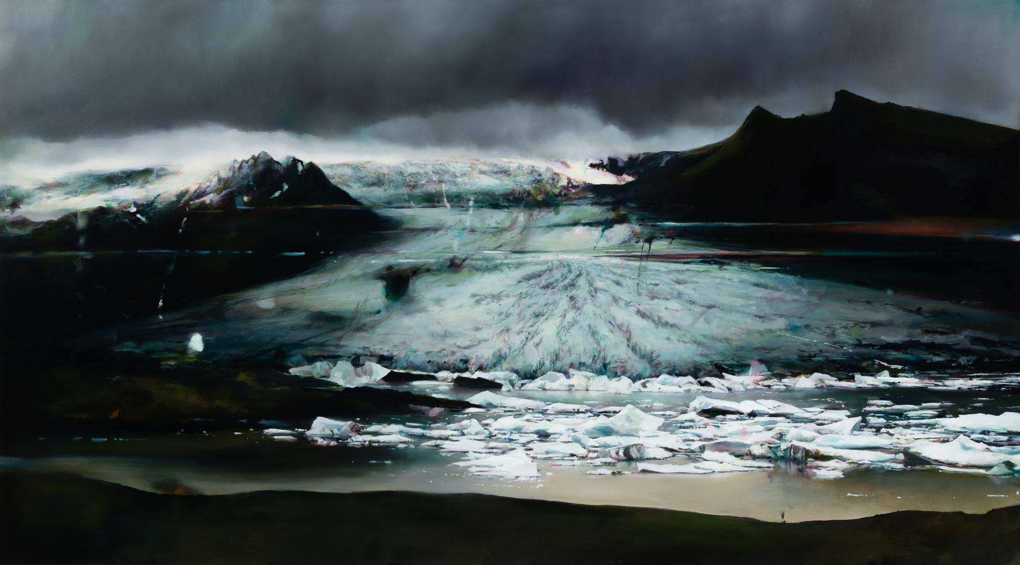 """glacier 2   40"""" x 72""""  oil on canvas  2018"""