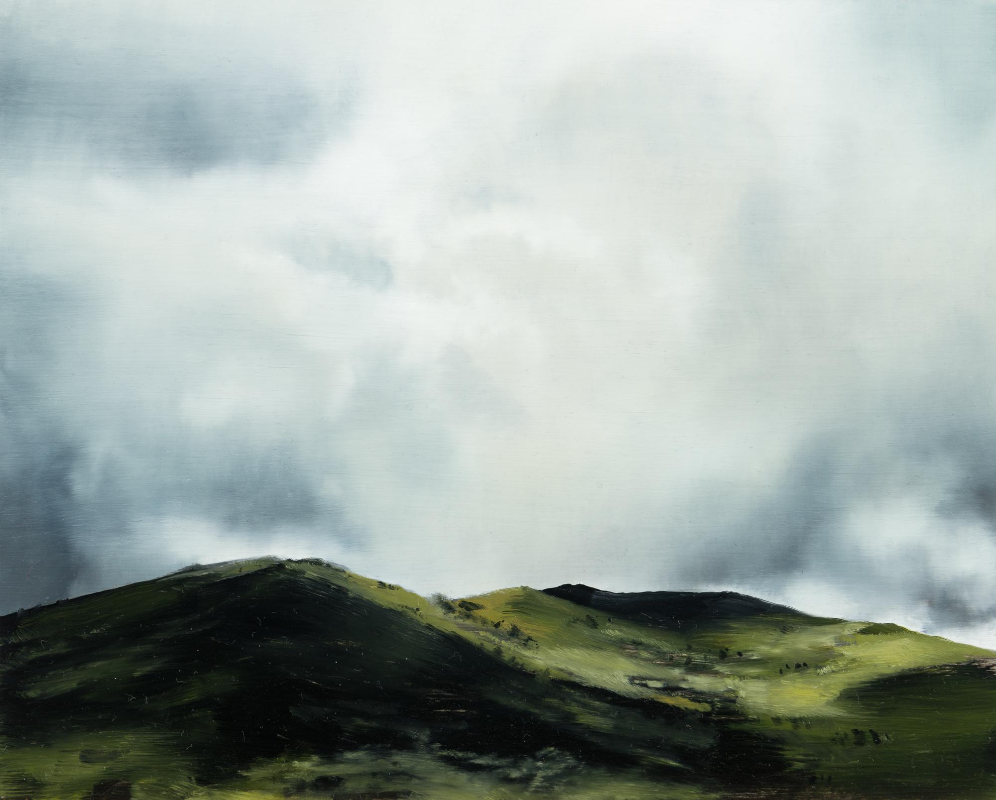 """white mountains  •  8"""" x 10""""  oil on panel  2018"""
