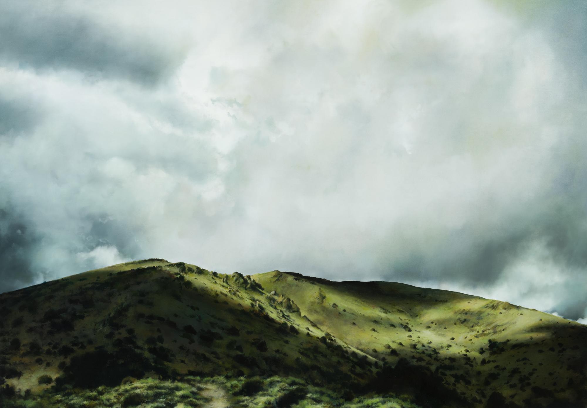 """white mountains 2   50"""" x 72""""  oil on canvas  2019"""