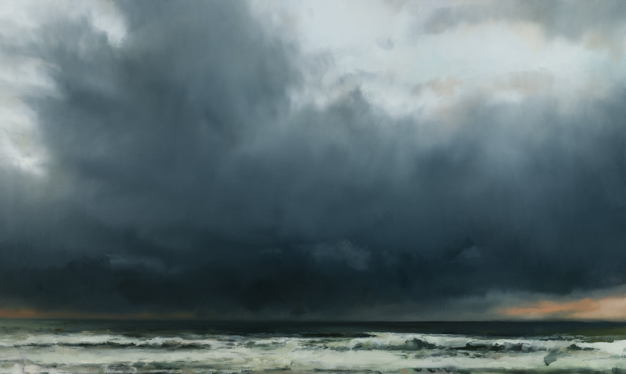 "pacific storm   30"" x 50""  oil on canvas  2019"