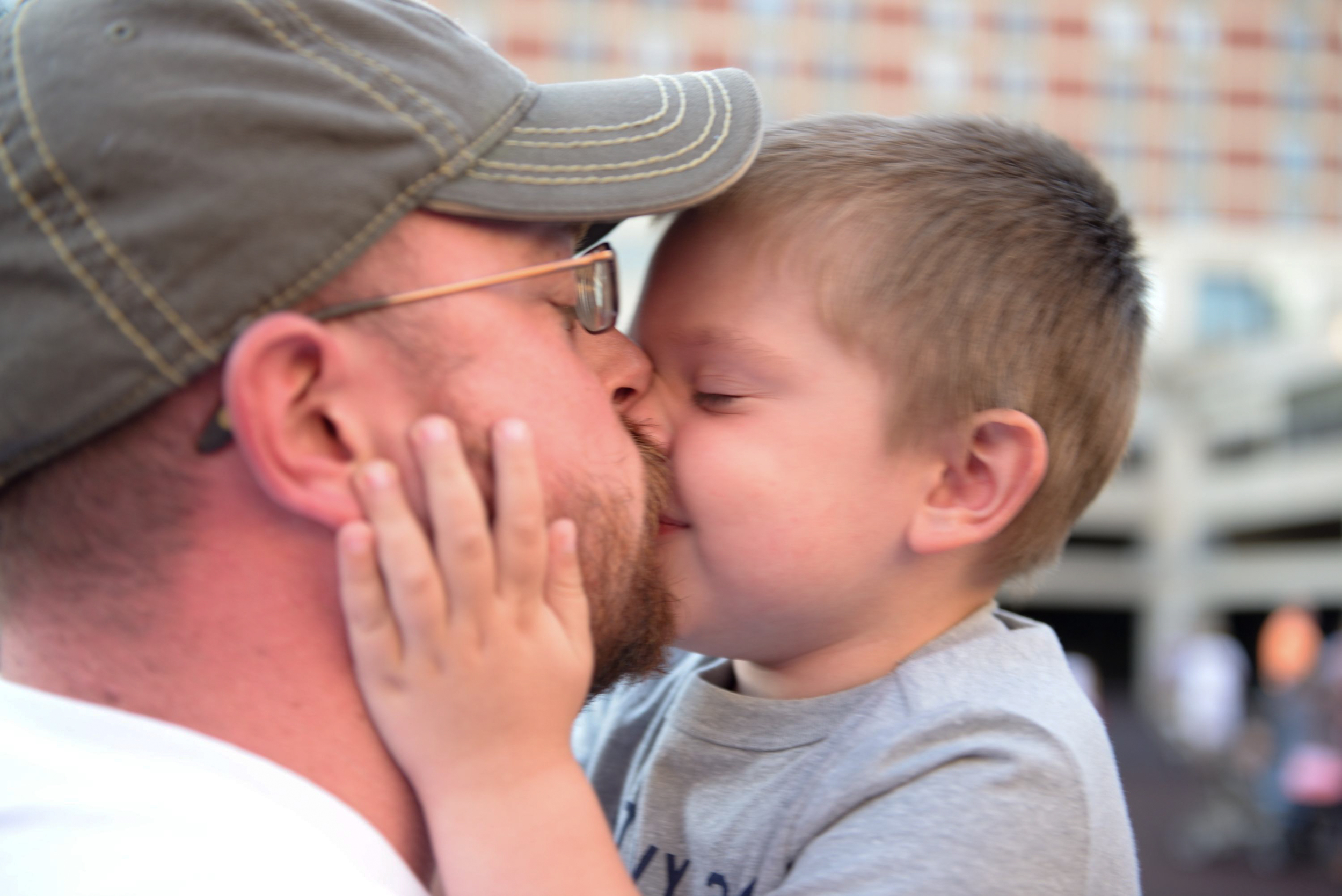 Will giving his daddy kisses! :)