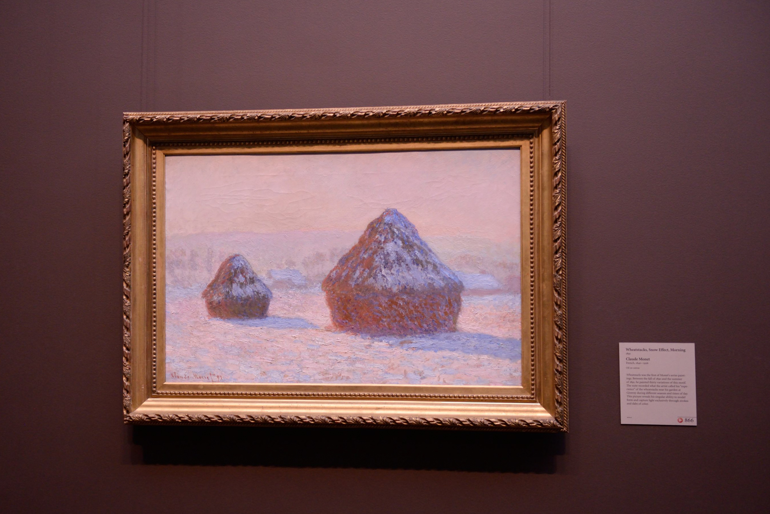 Haystacks in Winter  |  Claude Monet