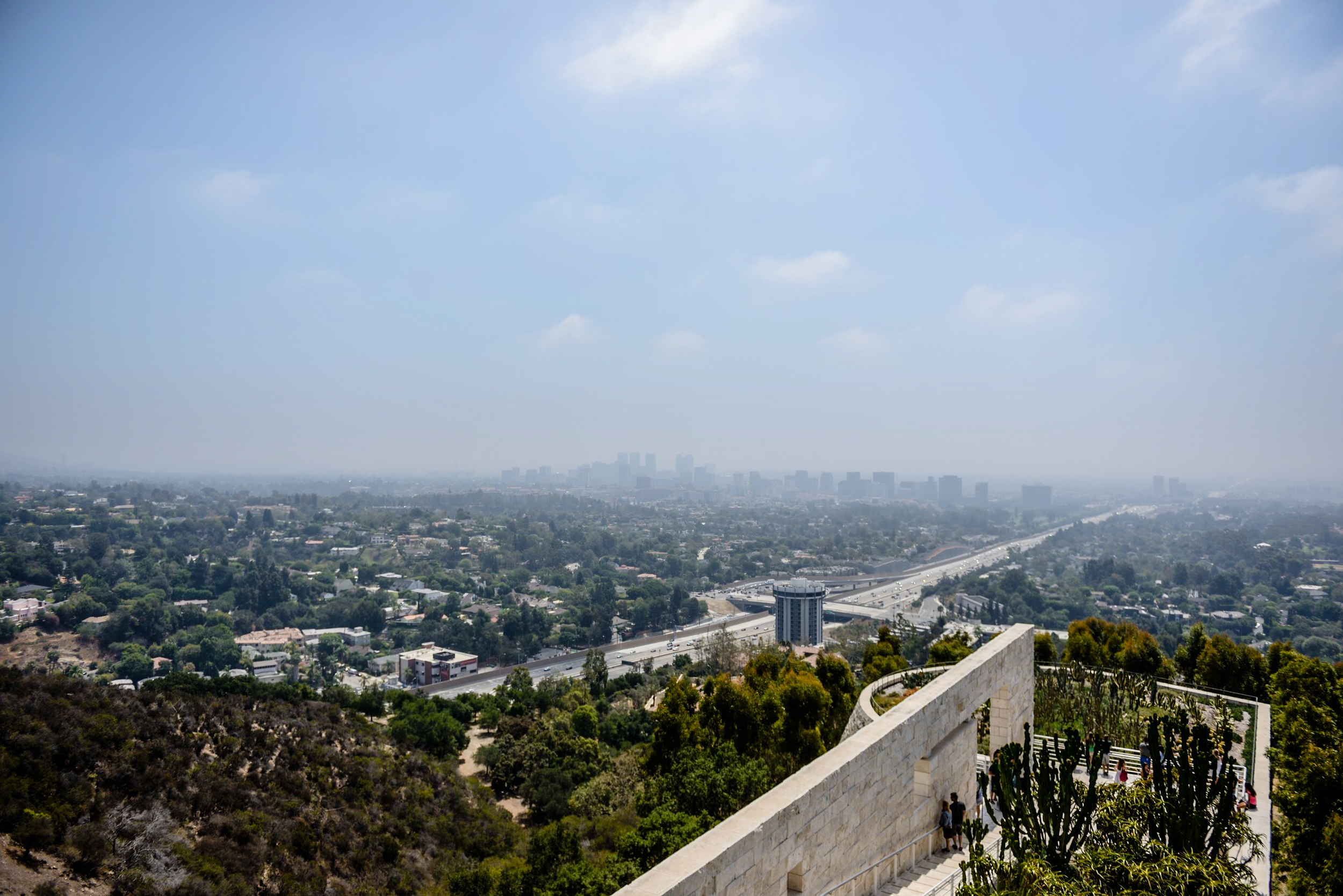 View from The Getty Center of LA
