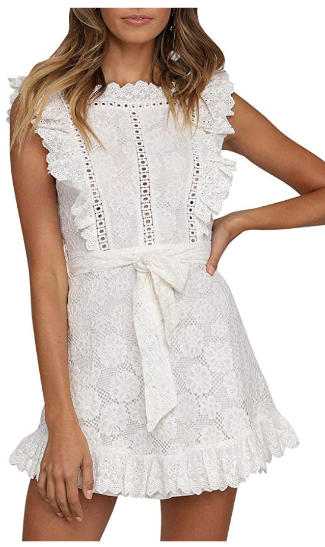 White night out dress