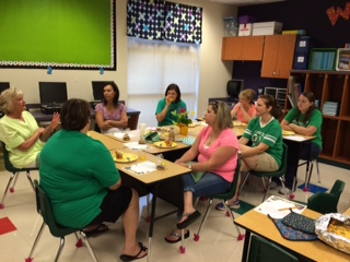 Lunch for the Fourth Grade teachers.