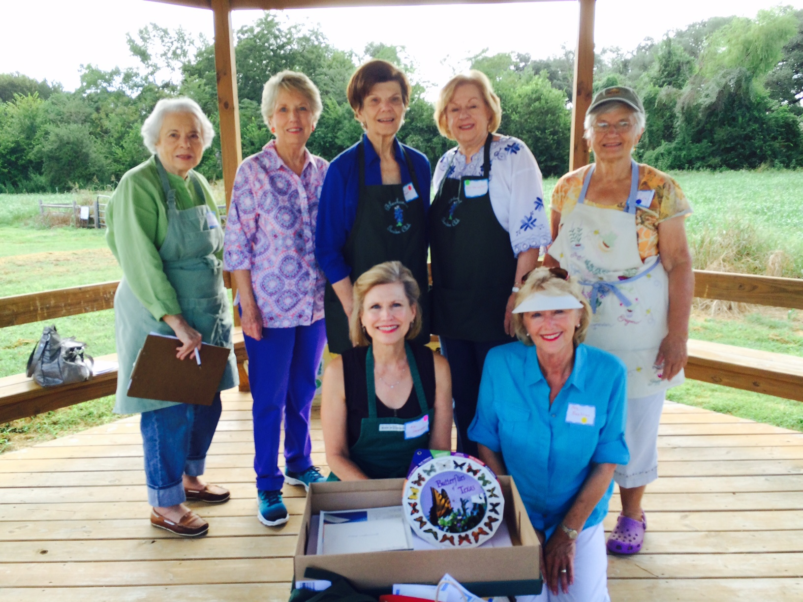 More September gardeners...Joy Kenjura, Sherry Barkman, Ann Lehmann, Betsy Striegler, Carolyn Sander, Debbie Urquhart. A special thank you to former garden club member, Jeri Baehren, who continues her faithful involvement with our Youth Gardeners!