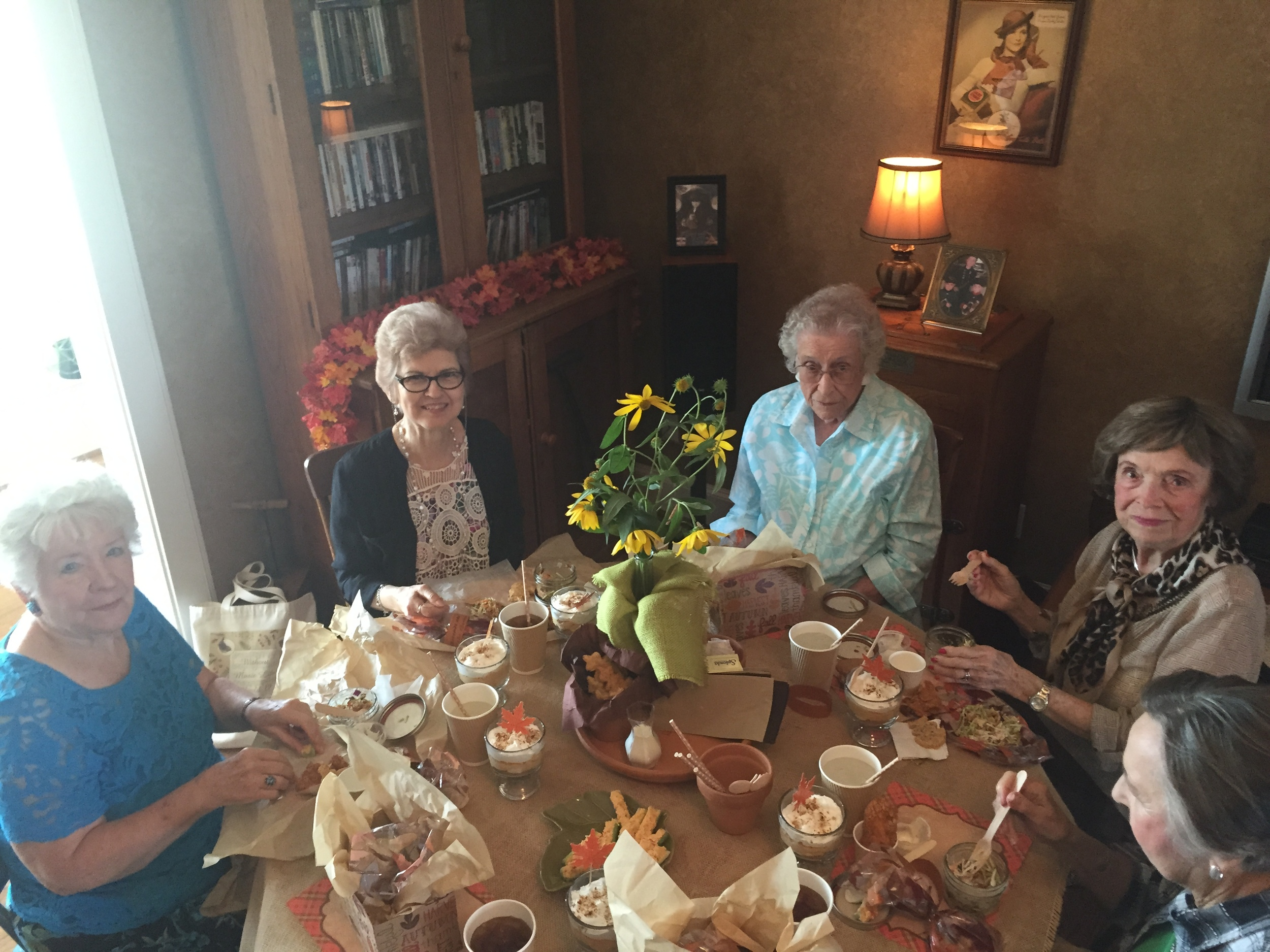 Left to Right: Merlene Schumacher, Donna Bennett, Mary McCoy, Dorothy Utesch (our oldest member and a member of Bluebonnet Garden Club since 1955!) & Joan Zeiss. What a treasure trove of gardening wisdom around this table. We are thankful for each one!
