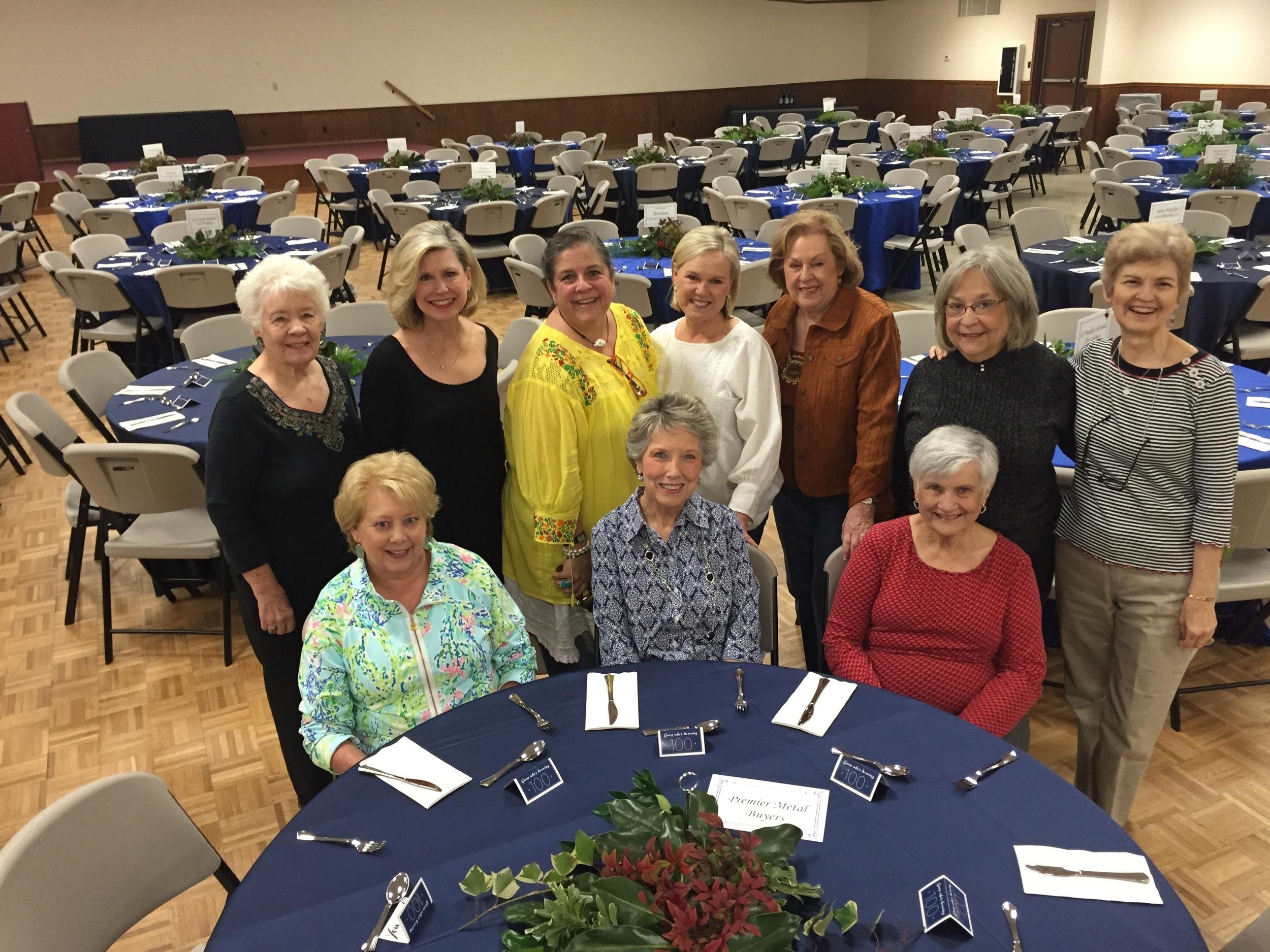 Beautiful job, ladies. Seated - Linda Blum, President, Sherry Barkman, Carolyn Sander. Standing - Merlene Schumacher, Debbie Urquhart, Shannon Webb, Lana McDaniel, Betsy Striegler, Scottie Davis, Donna Bennett.