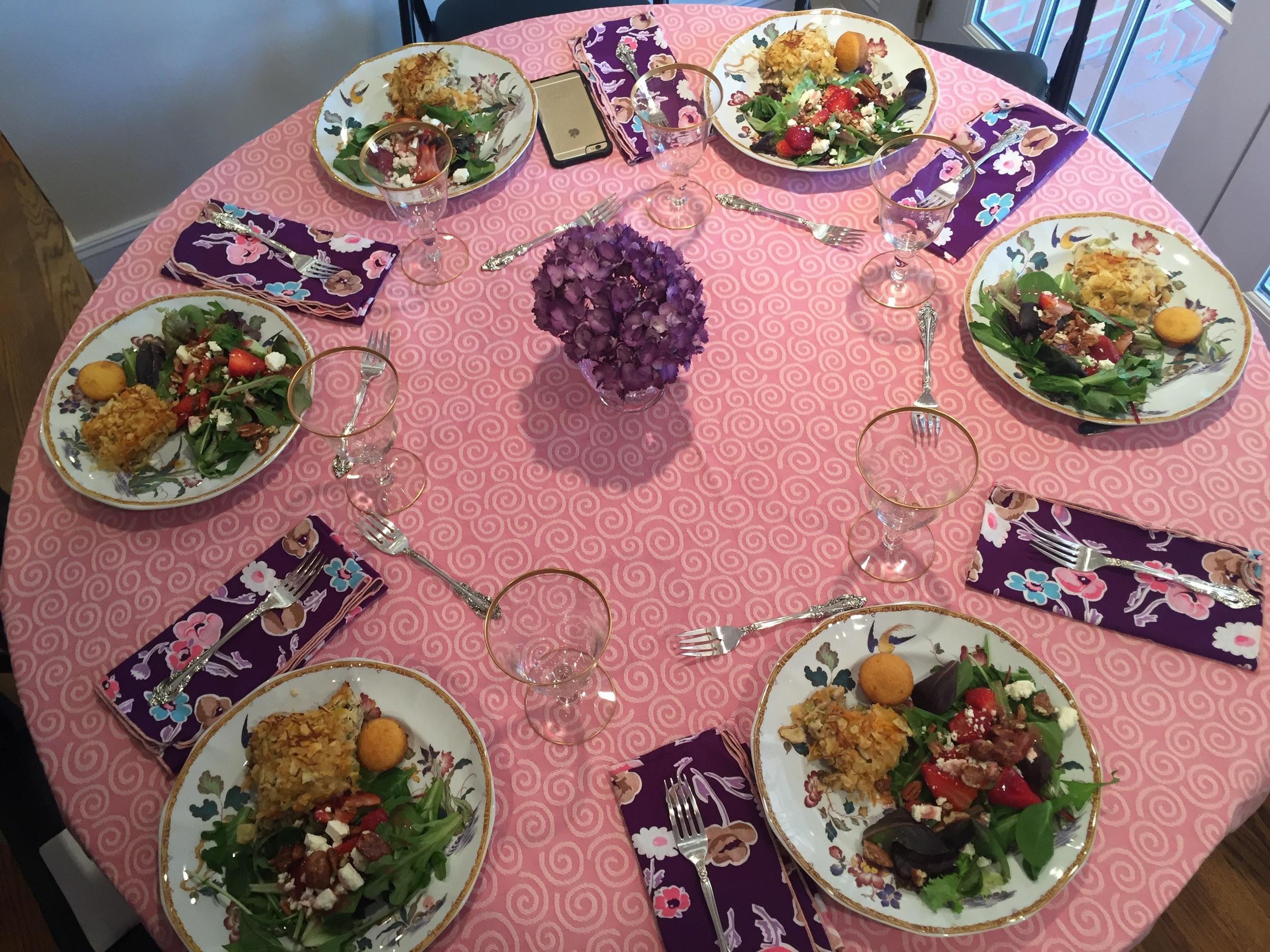 The table setting was lovely and lunch was delicious!