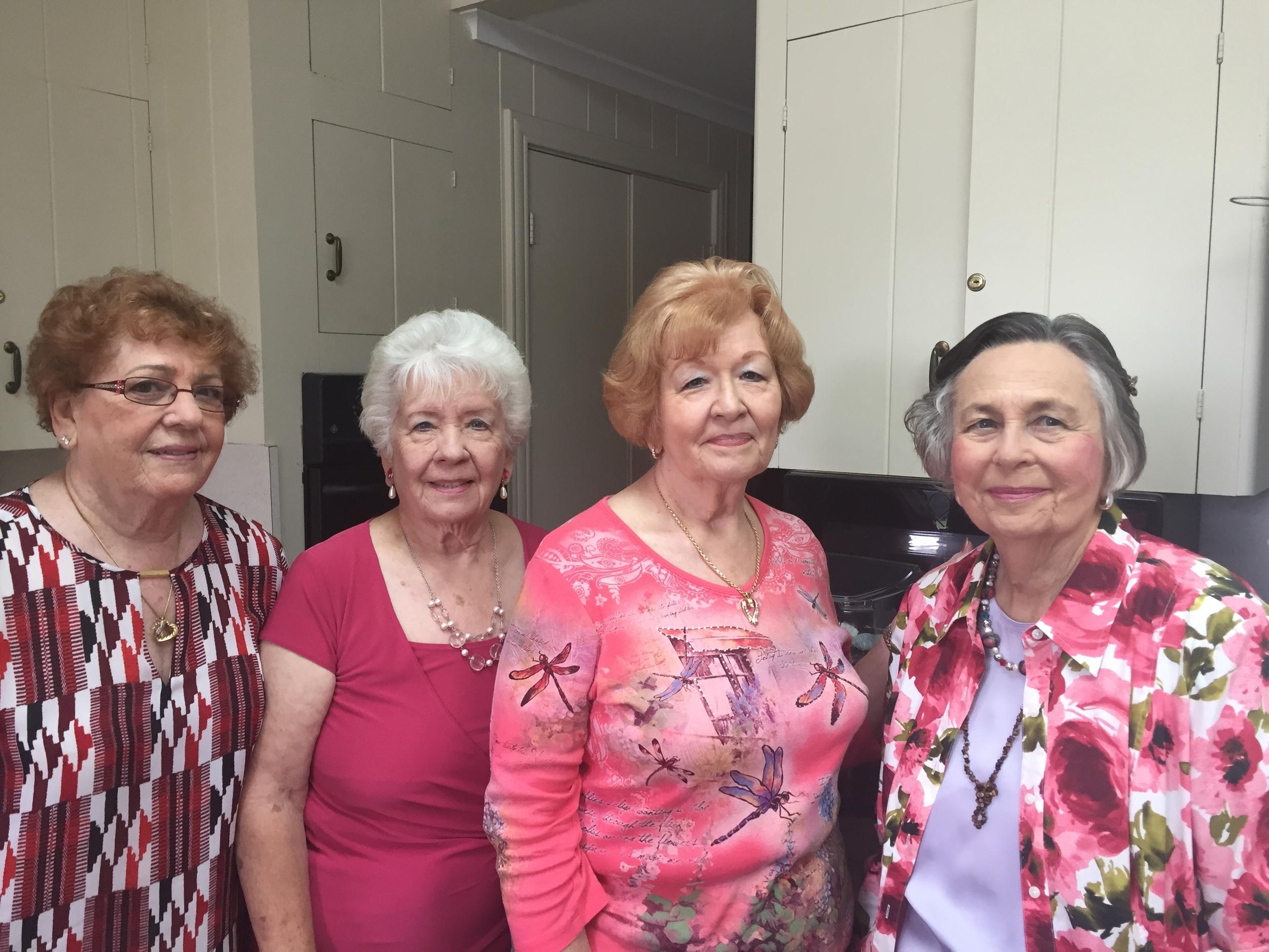 Charleen Jones, Merlene Schumacher, Freda Martin and Joan Zeiss - Hostesses