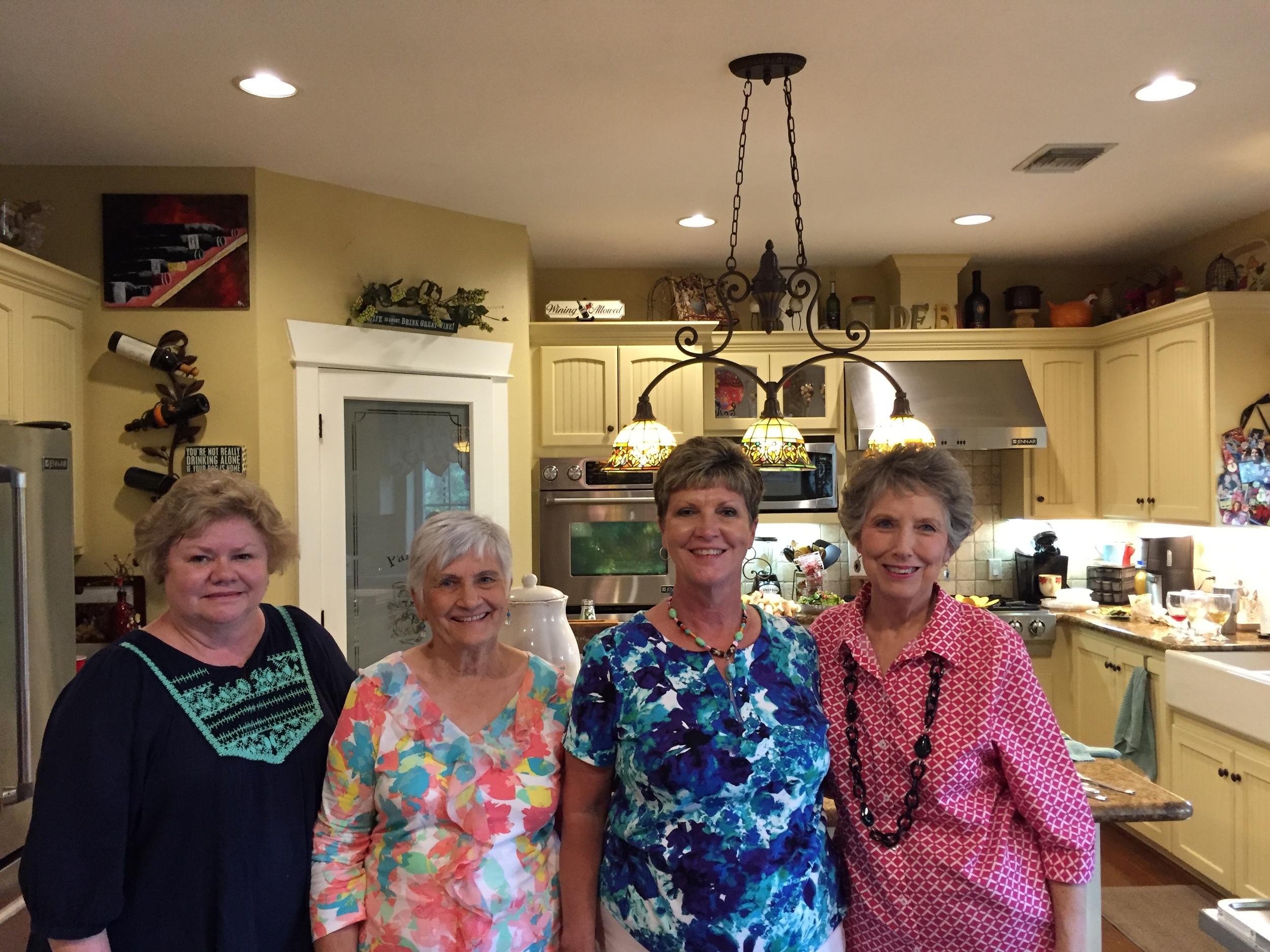 May hostesses - Judy Pendergrass, Carolyn Sander, Debi Meschwitz, Sherry Barkman
