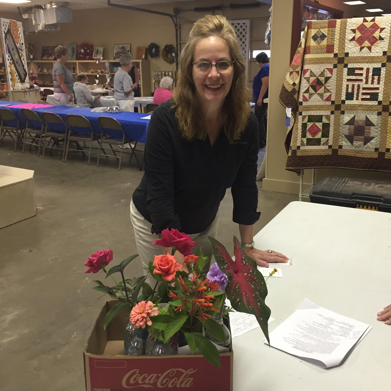 A participant at the fair.
