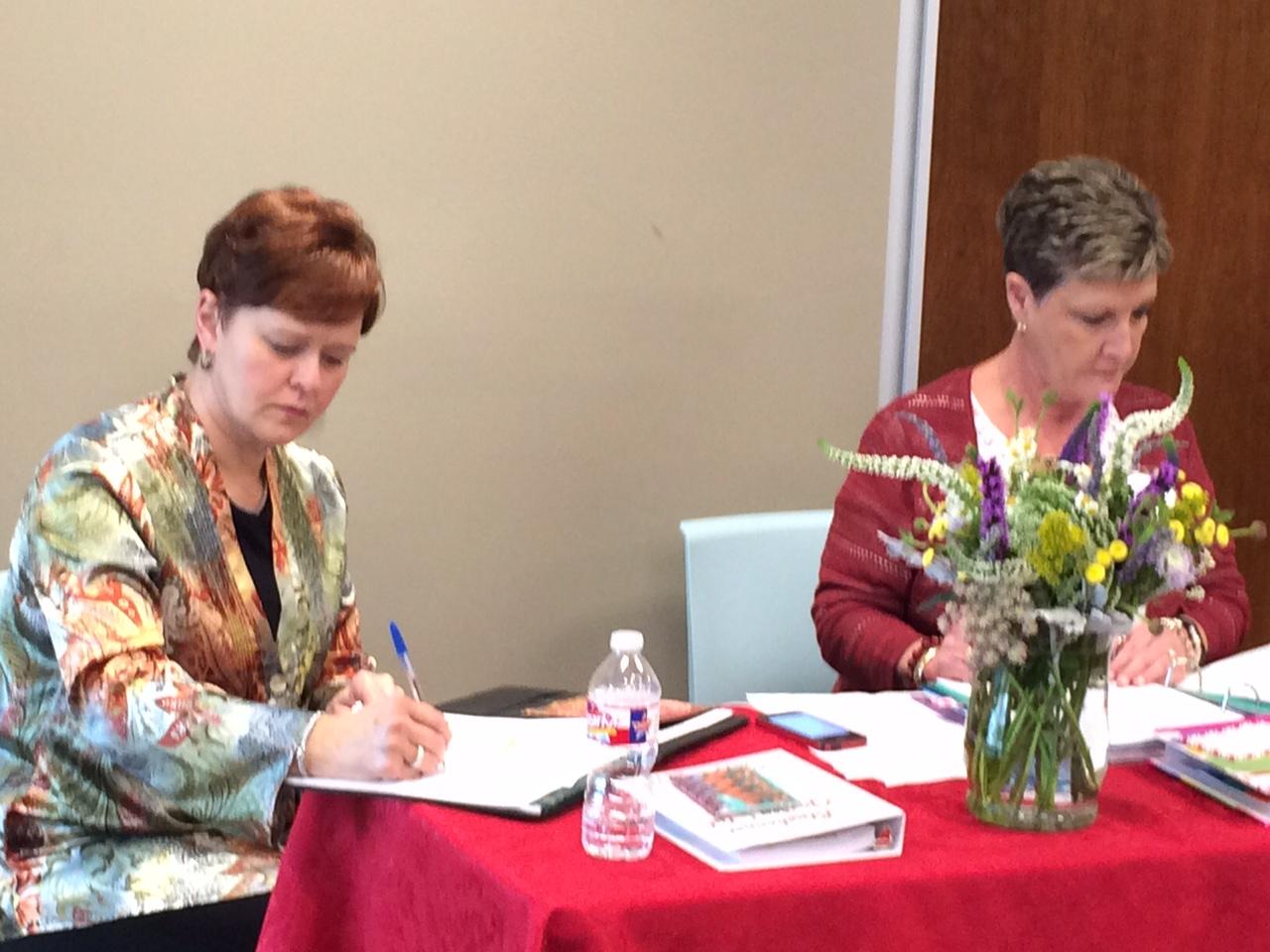 February Meeting  2018 Joy & Debi.JPG