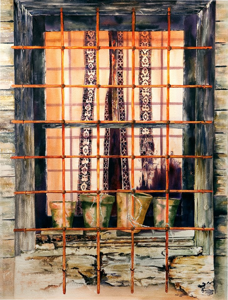 """Istanbul Window""  Watercolor"