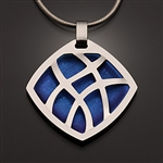 Sterling and niobium pendant
