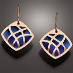14K bi-metal and niobium earrings