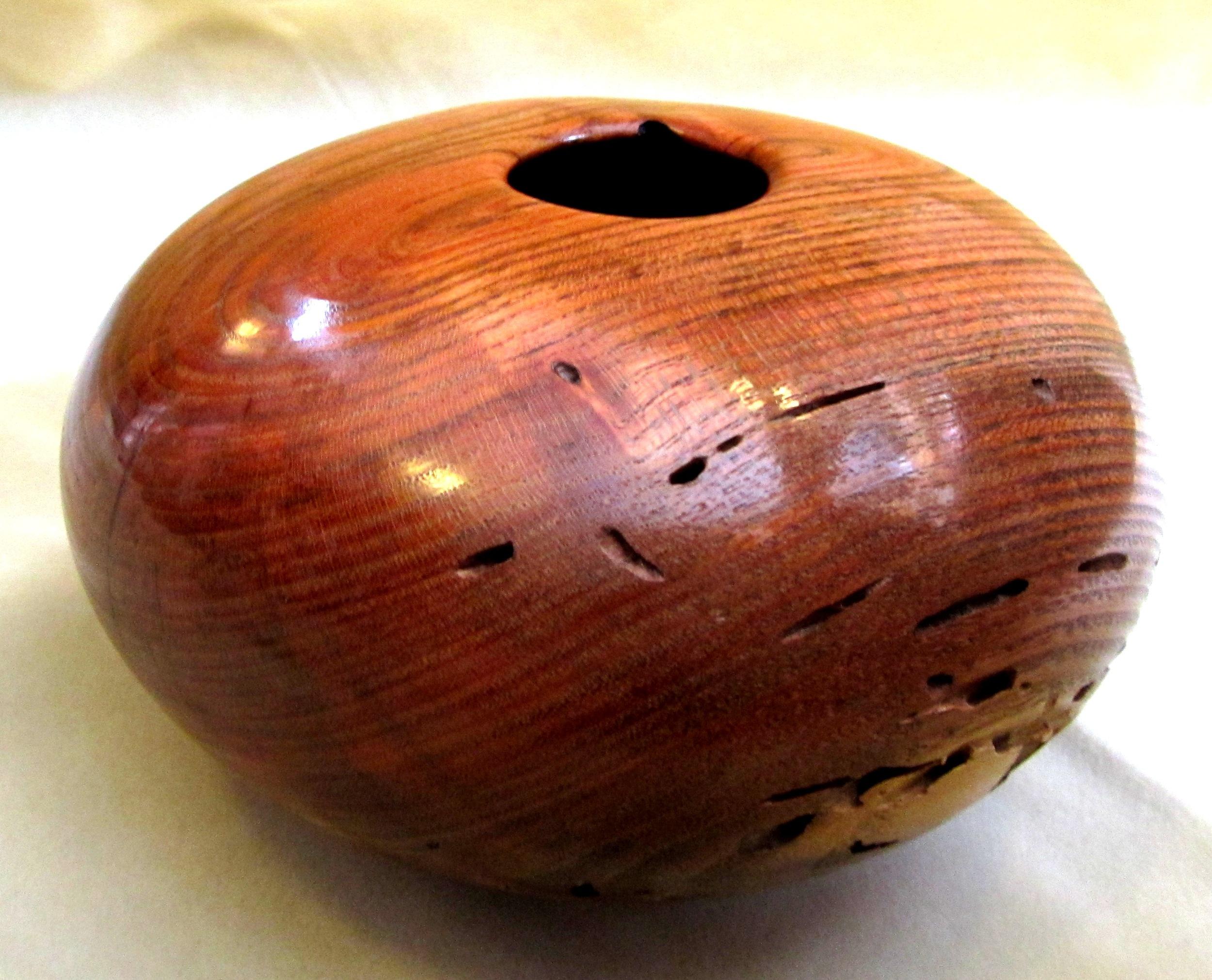 Oak turned vessel