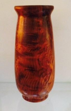 Turned Redwood Vase