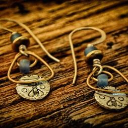 """""""Be Patient"""" earrings"""