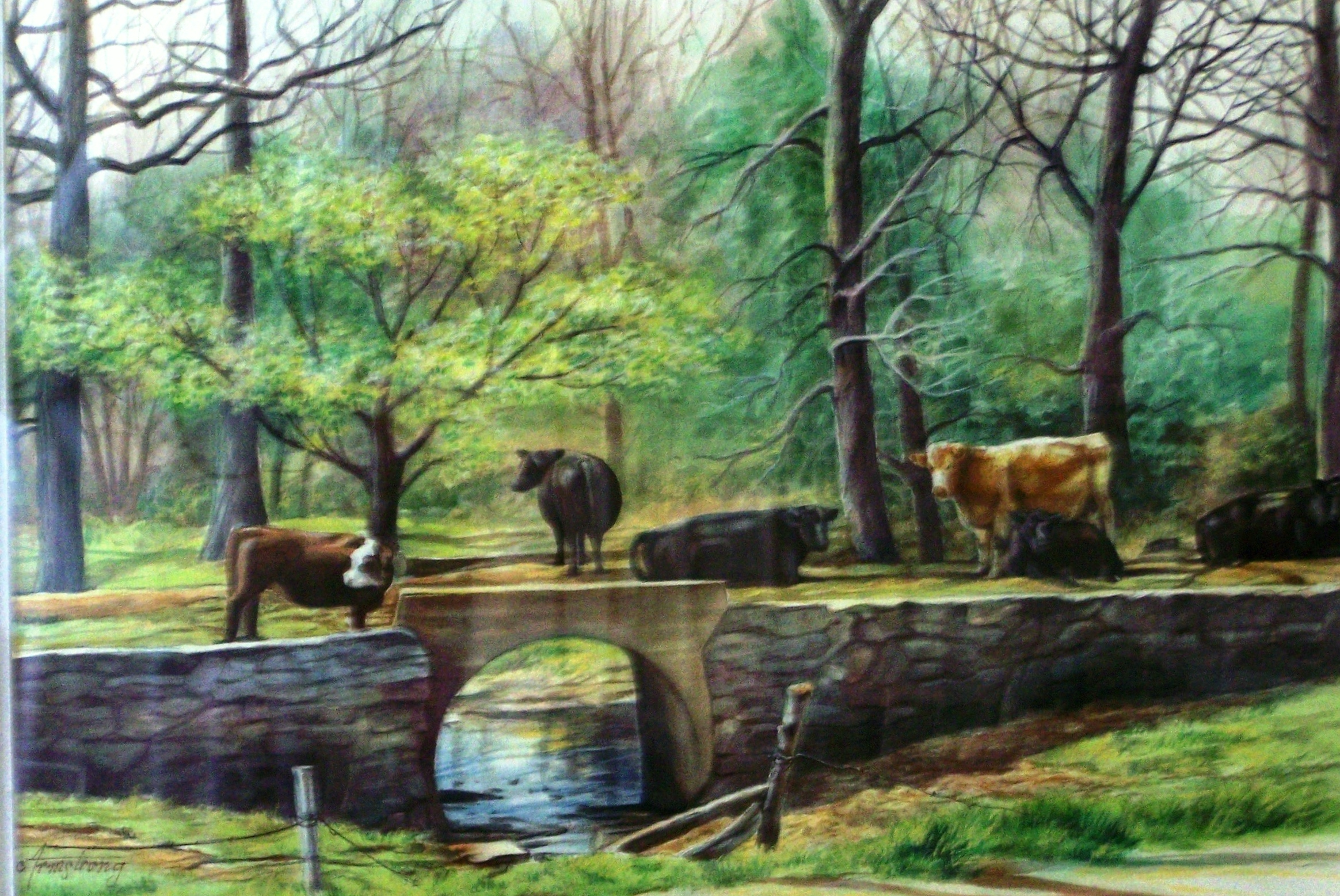 """Pasture to Bolivar"" watercolor"