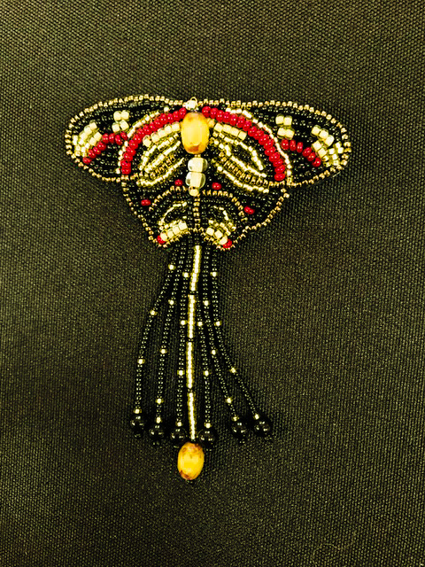 Beaded Butterfly Pin