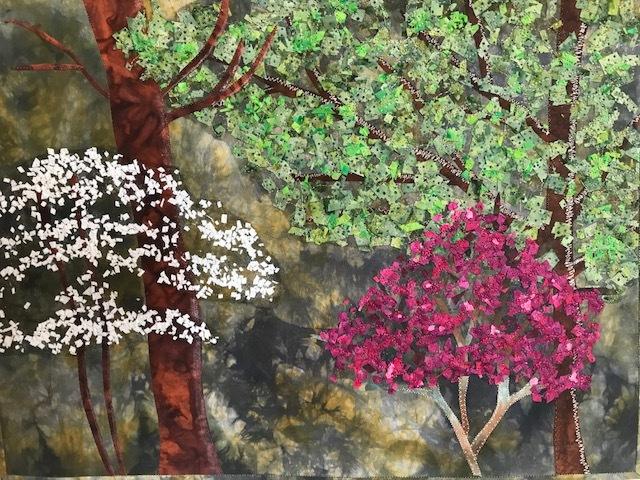 """Spring"" fiber art by Roberta Ranney"