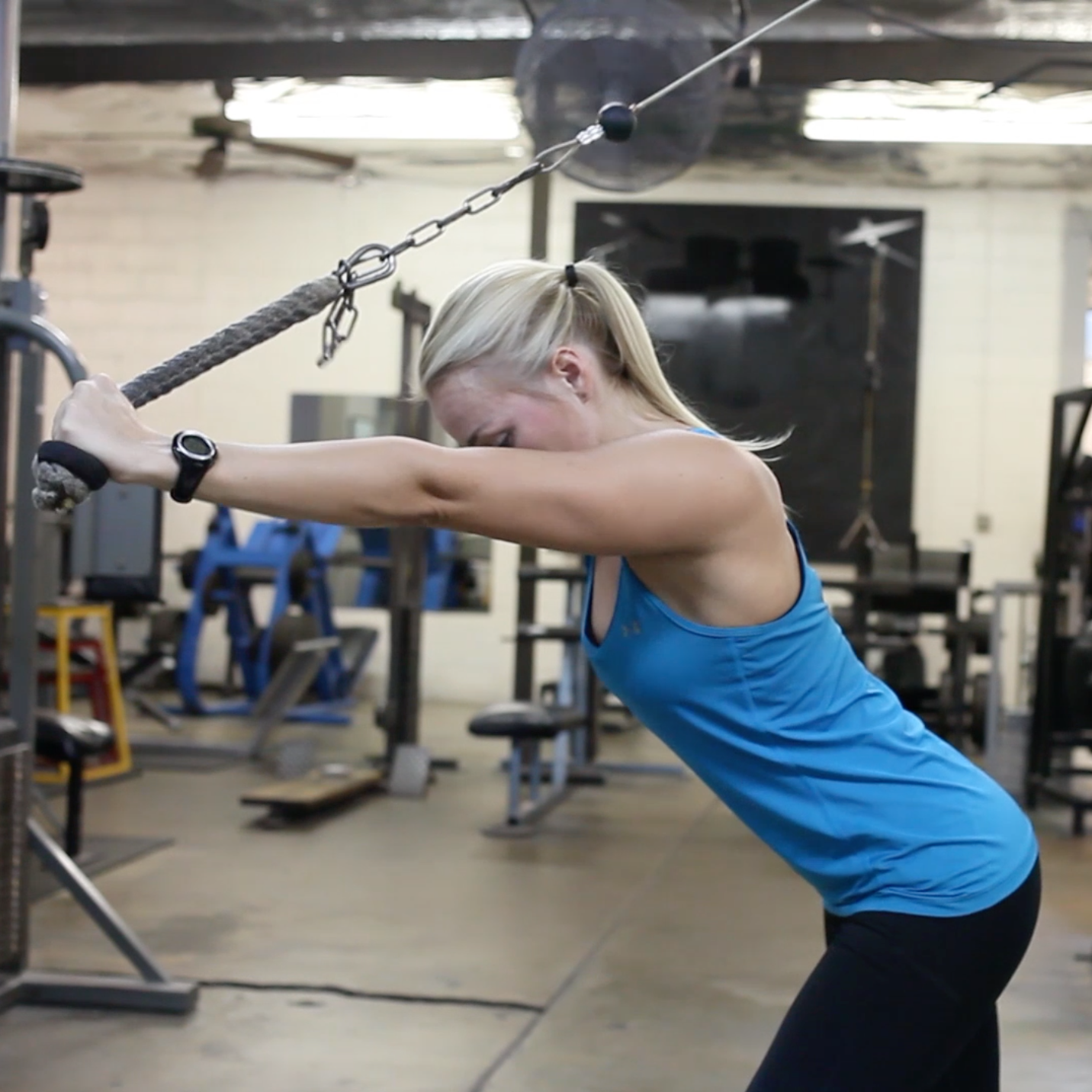 cable triceps overhead extensions