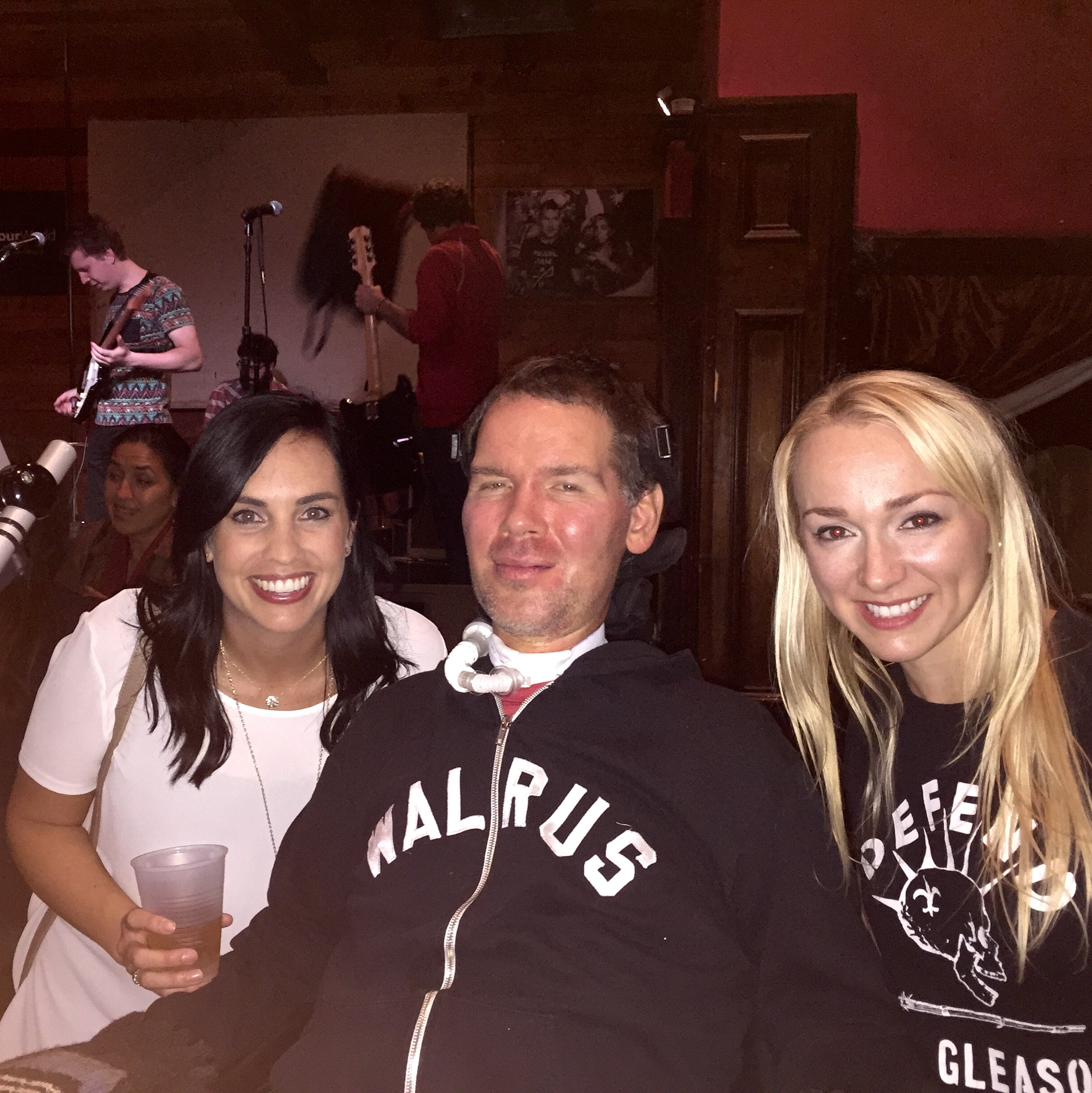 Lauren Bowman and Steve Gleason... an old friend and a new one.  Team Gleason