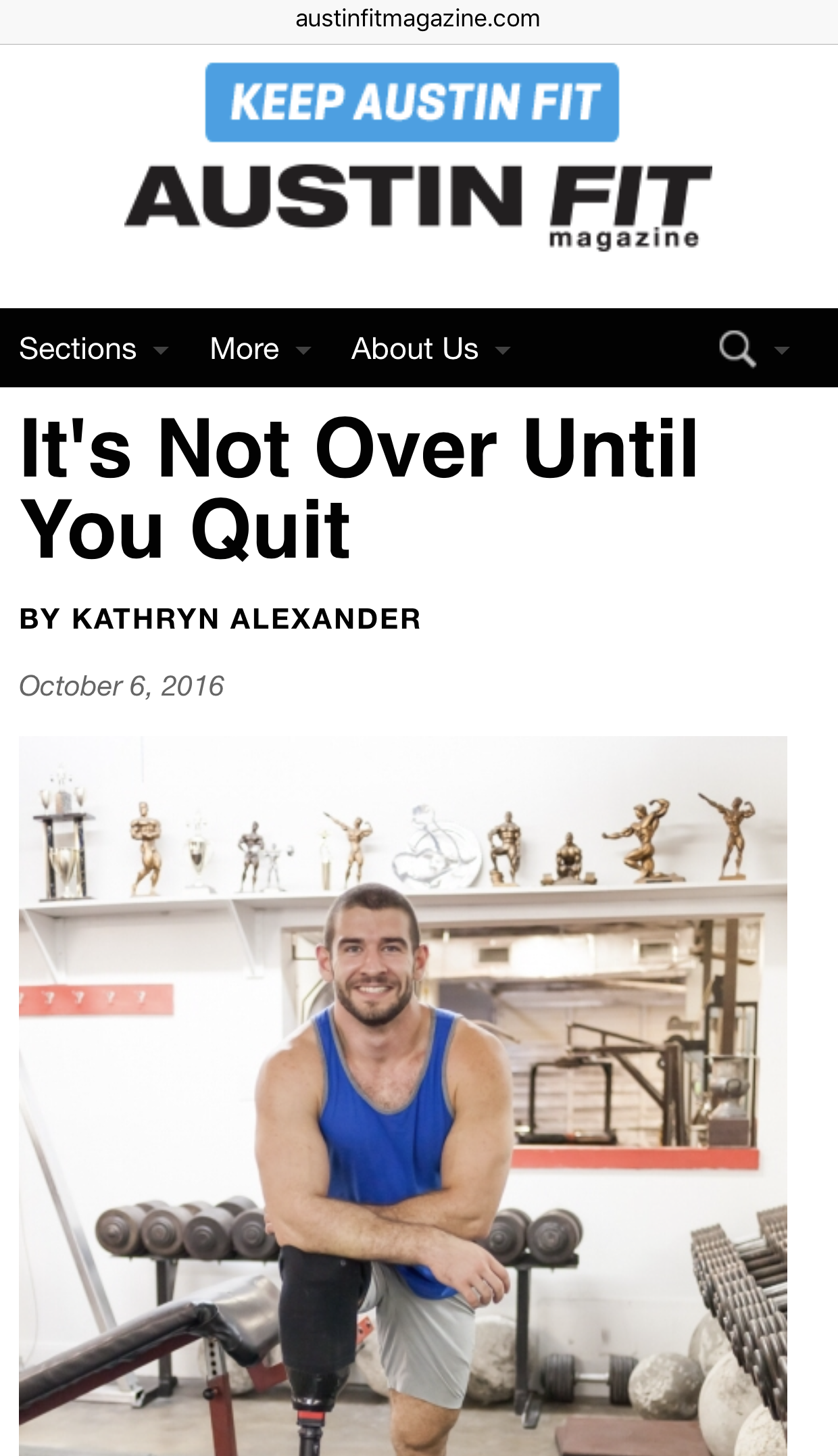 Stephen Moore of  512 Trainer  proved his mettle this year and  Austin Fit Magazine  published his story.