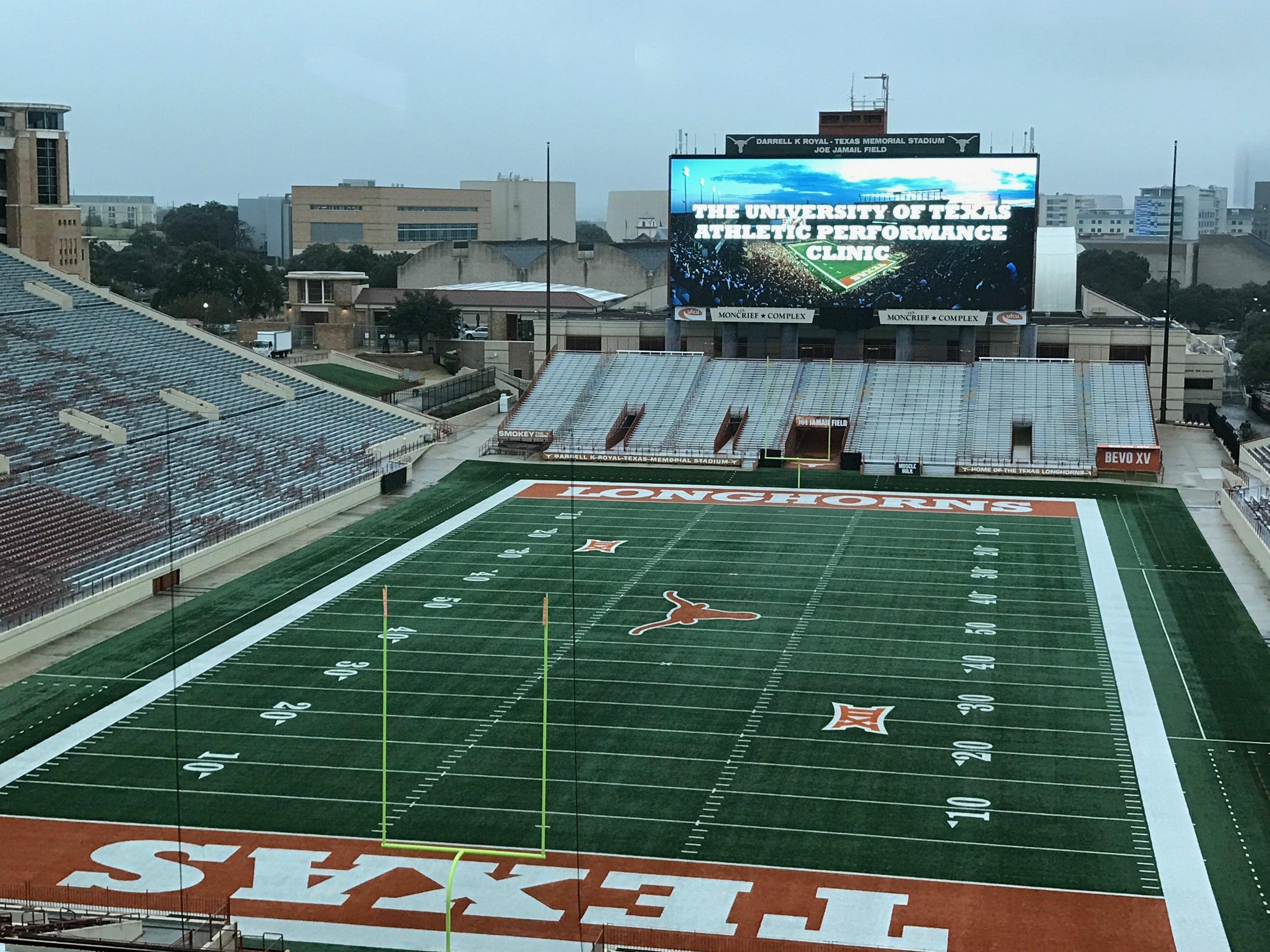 Darrell K. Royal Stadium at the University of Texas at Austin.