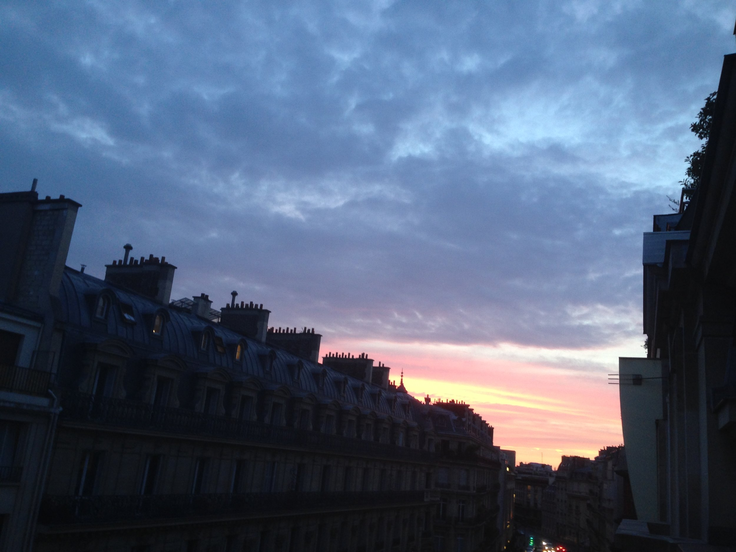 Sunset in Paris.