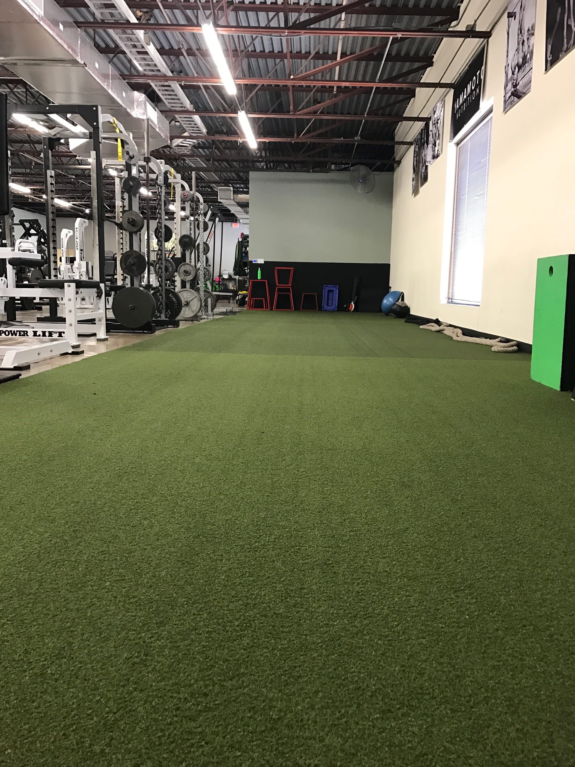 The turf at Gym One.